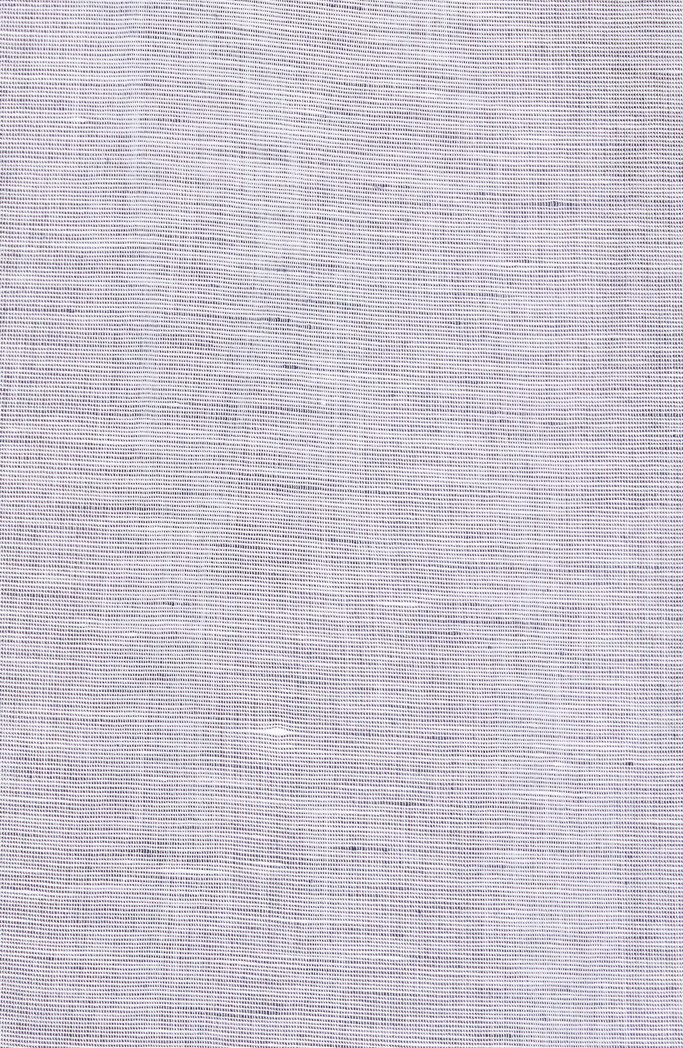 Nash Slim Fit Linen & Cotton Sport Shirt,                             Alternate thumbnail 5, color,                             020