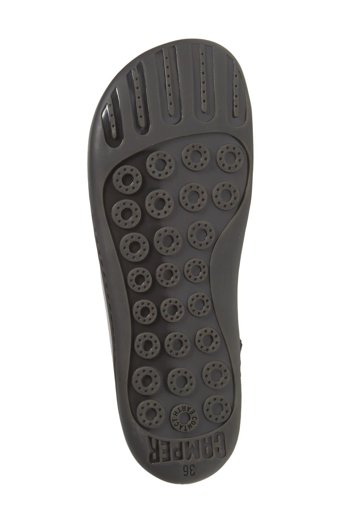 'Peu Cami' Mid Sneaker,                             Alternate thumbnail 3, color,                             BLACK LEATHER