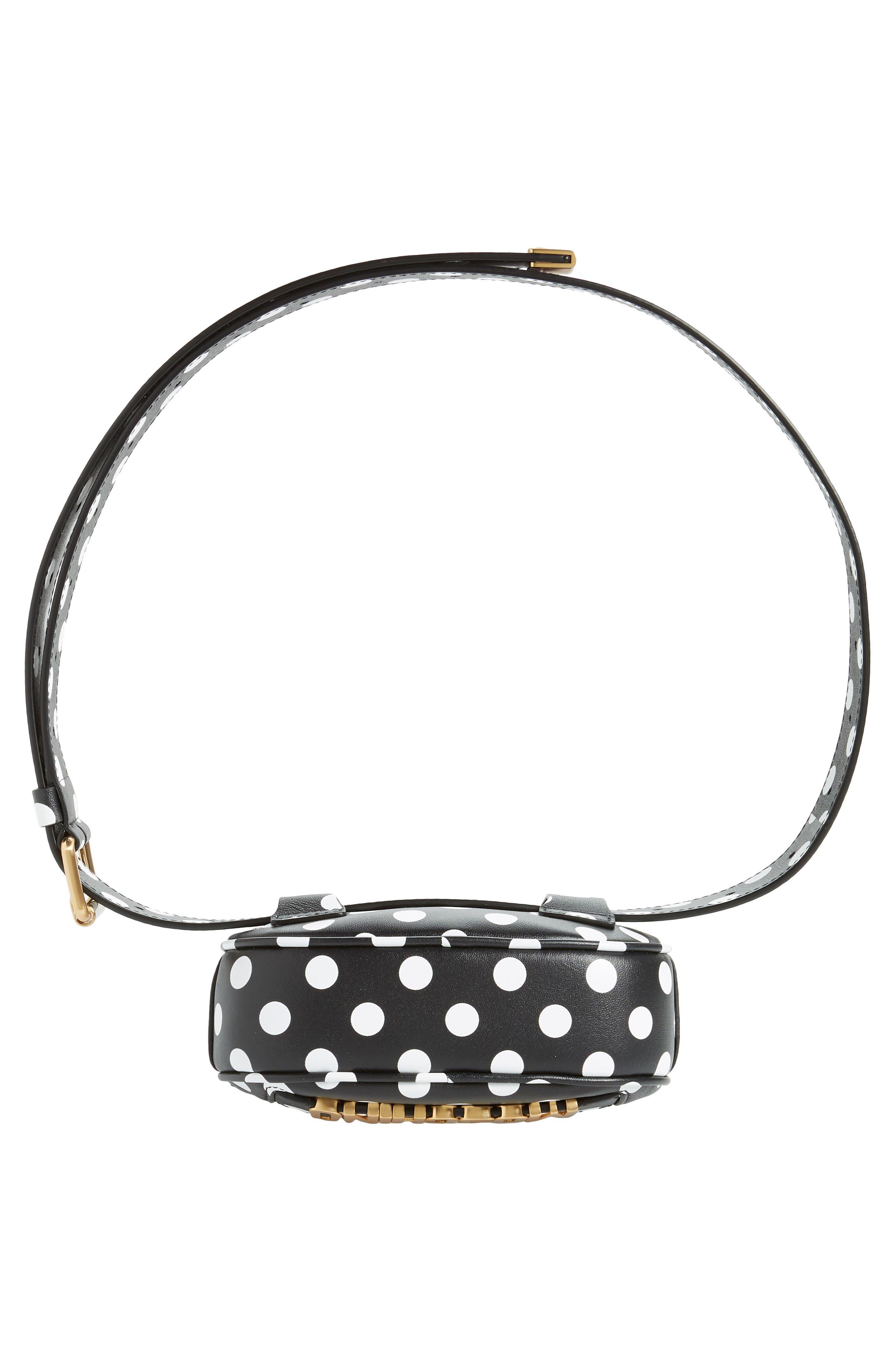 Logo Polka Dot Belt Bag,                             Alternate thumbnail 8, color,                             BLACK/ WHITE