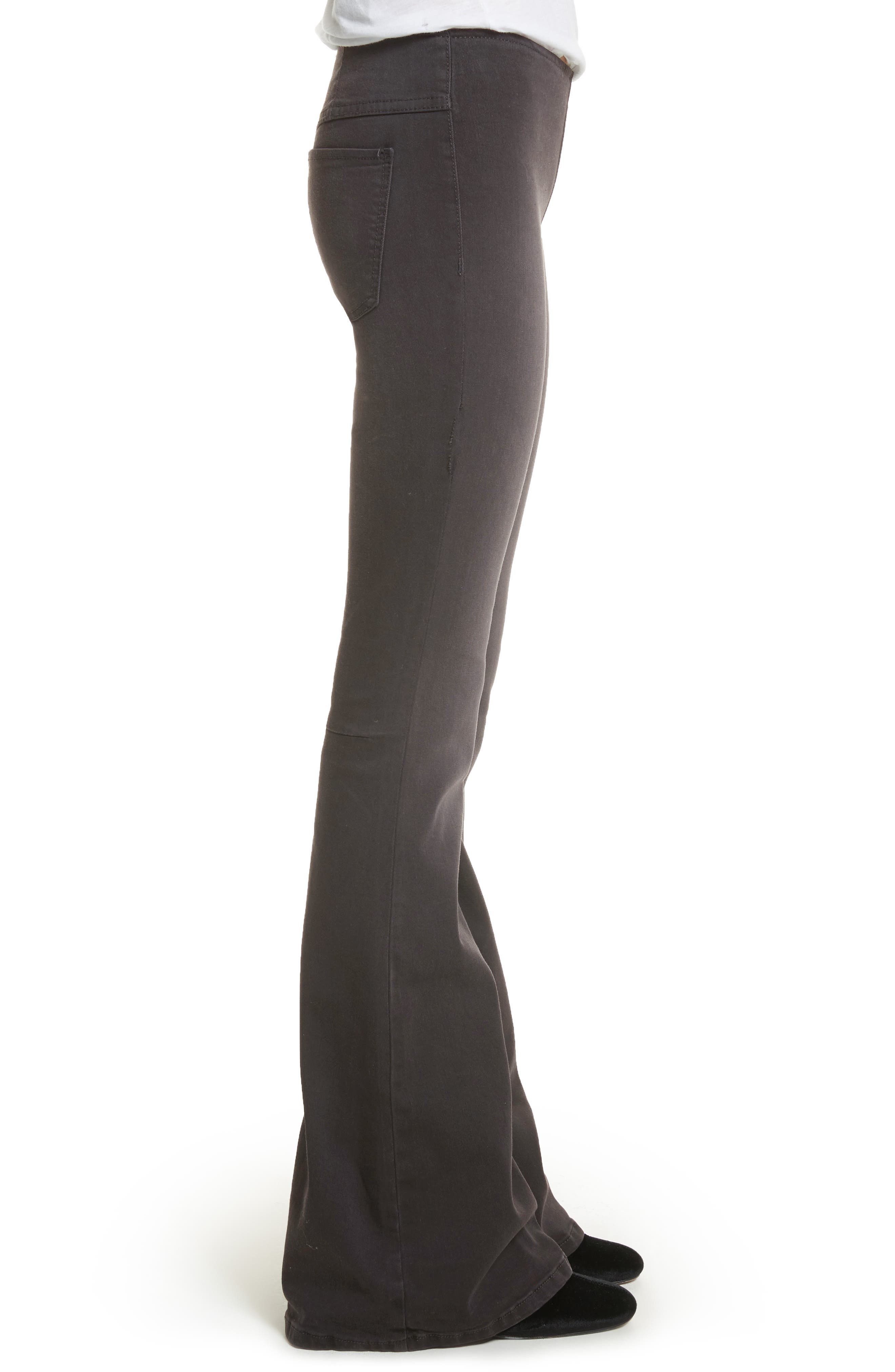 We the Free by Free People Gummy Pull-On Flare Leg Jeans,                             Alternate thumbnail 3, color,                             BLACK