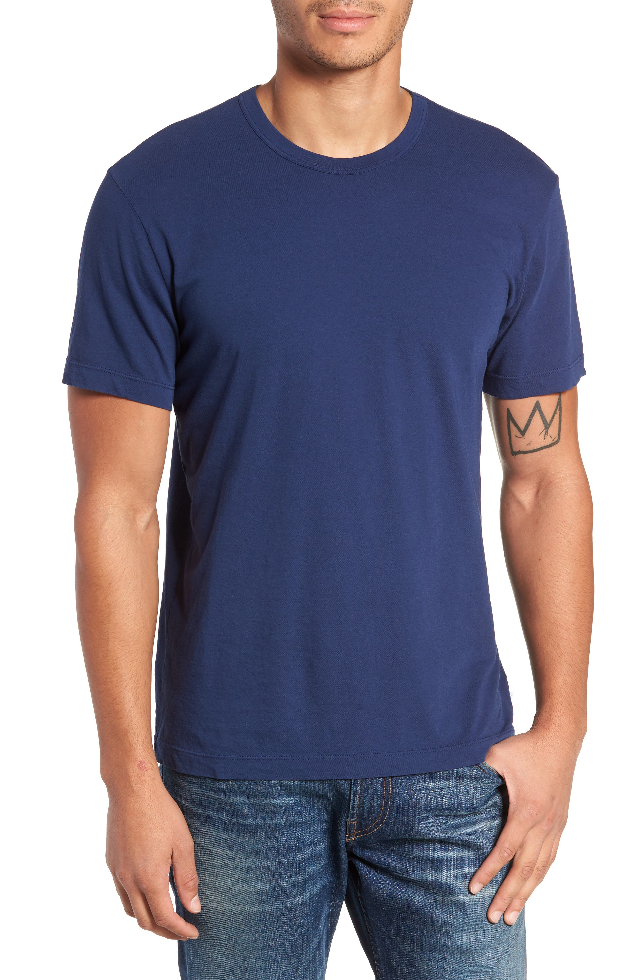 Crewneck Jersey T-Shirt,                             Alternate thumbnail 126, color,