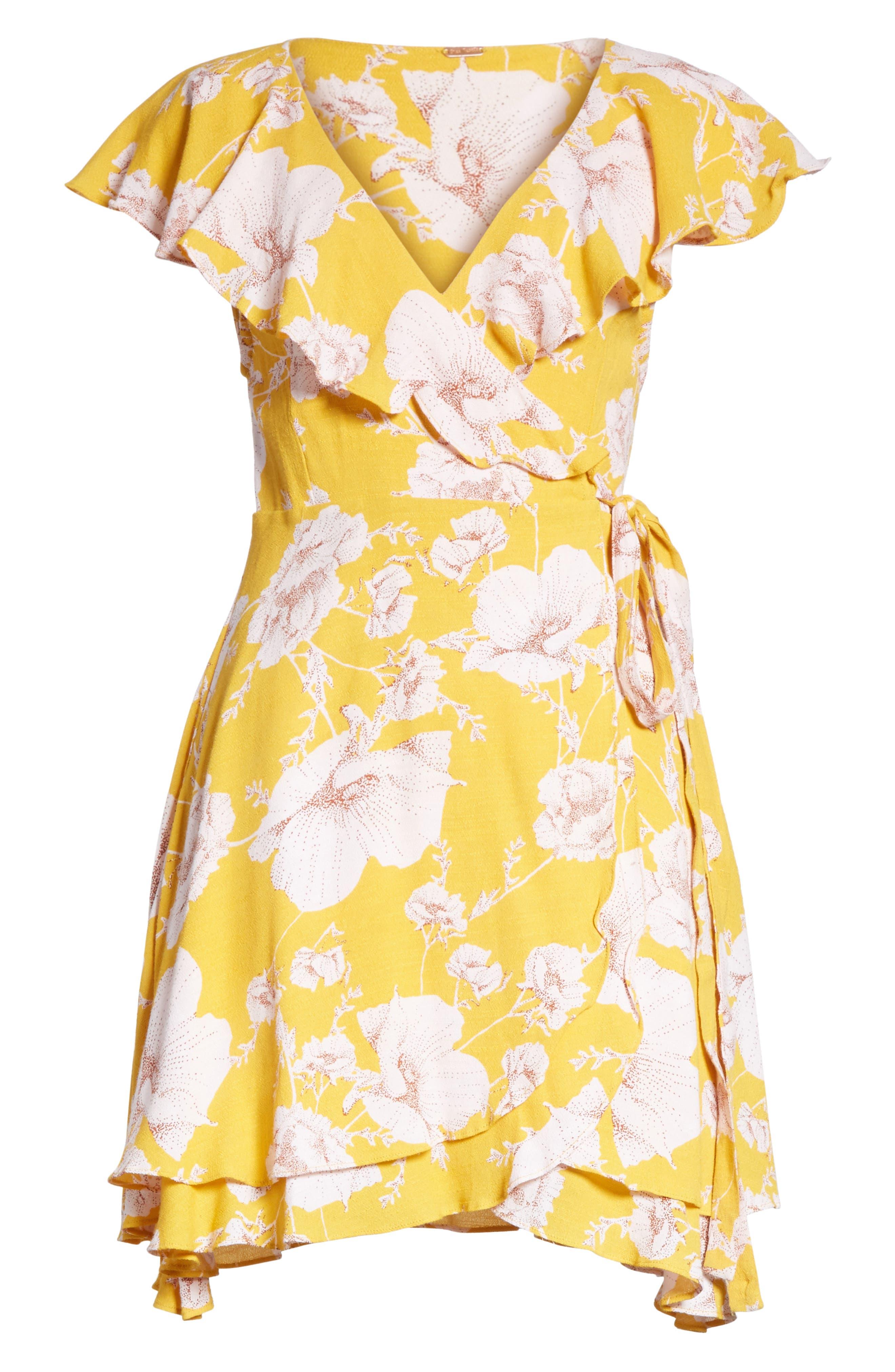 French Quarter Print Wrap Minidress,                             Alternate thumbnail 27, color,