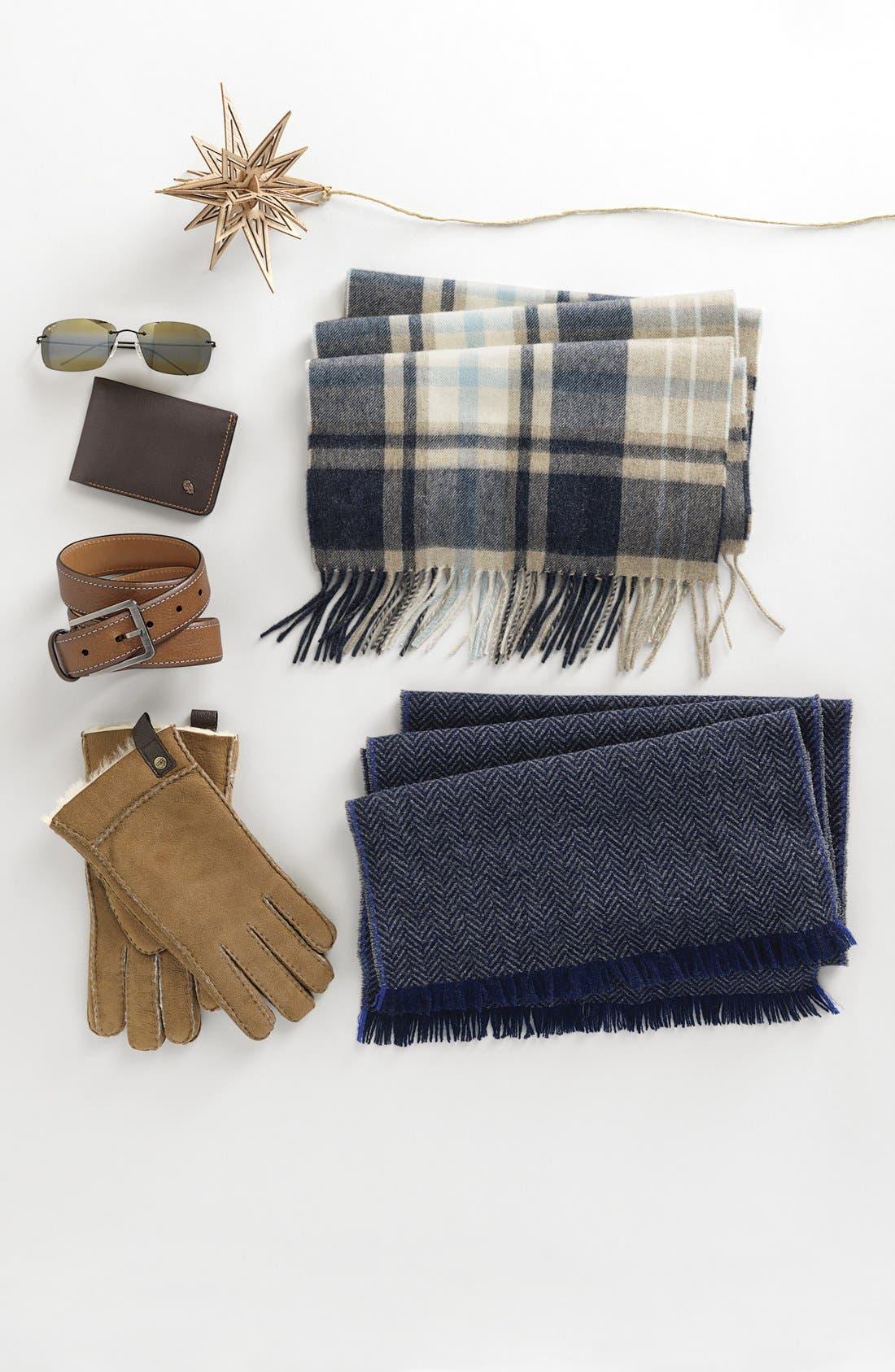 Genuine Shearling Gloves,                             Alternate thumbnail 2, color,                             001