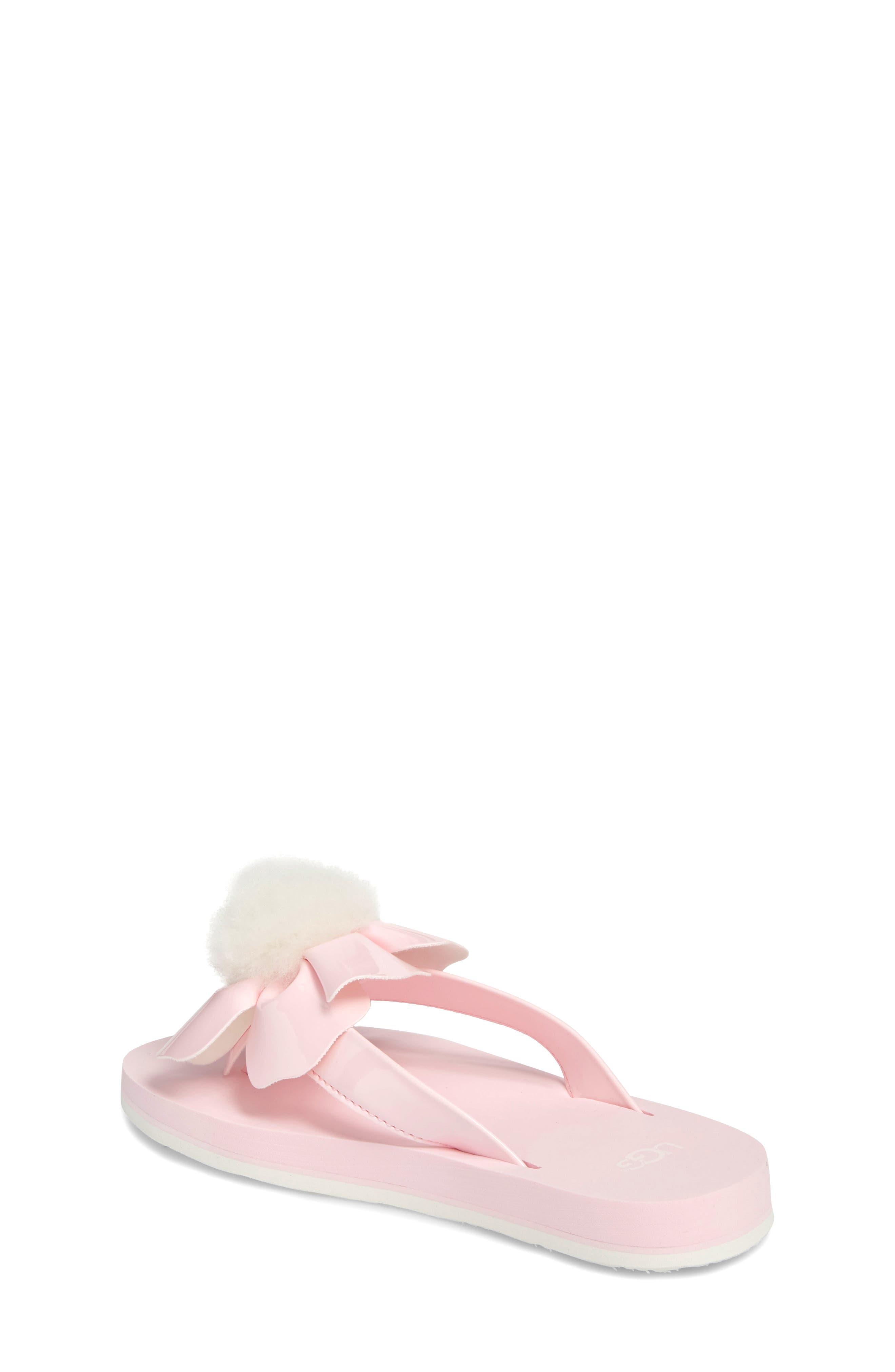 Poppy Genuine Shearling Flip Flop,                             Alternate thumbnail 5, color,