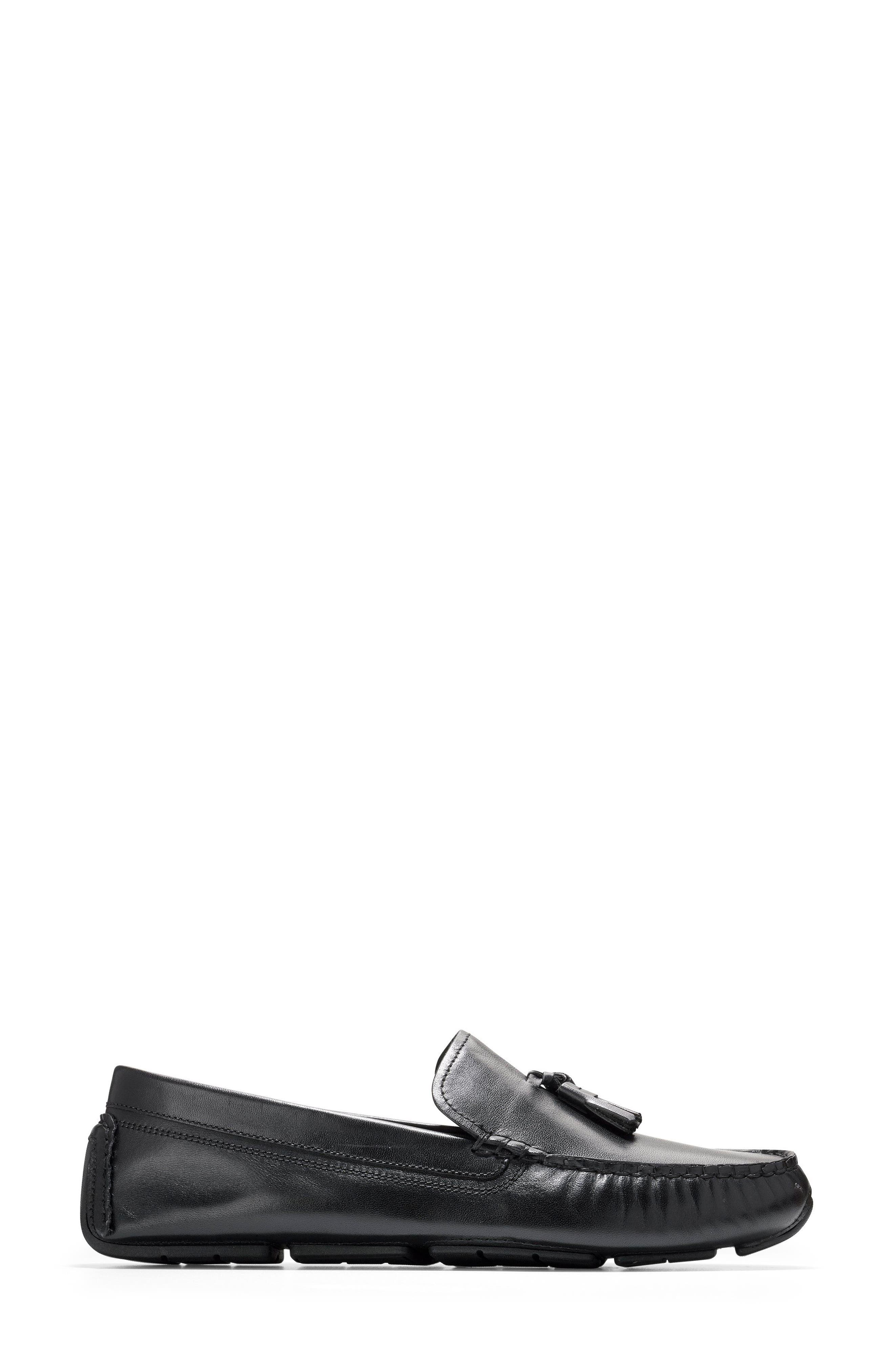 Rodeo Tassel Driving Loafer,                             Alternate thumbnail 3, color,                             001