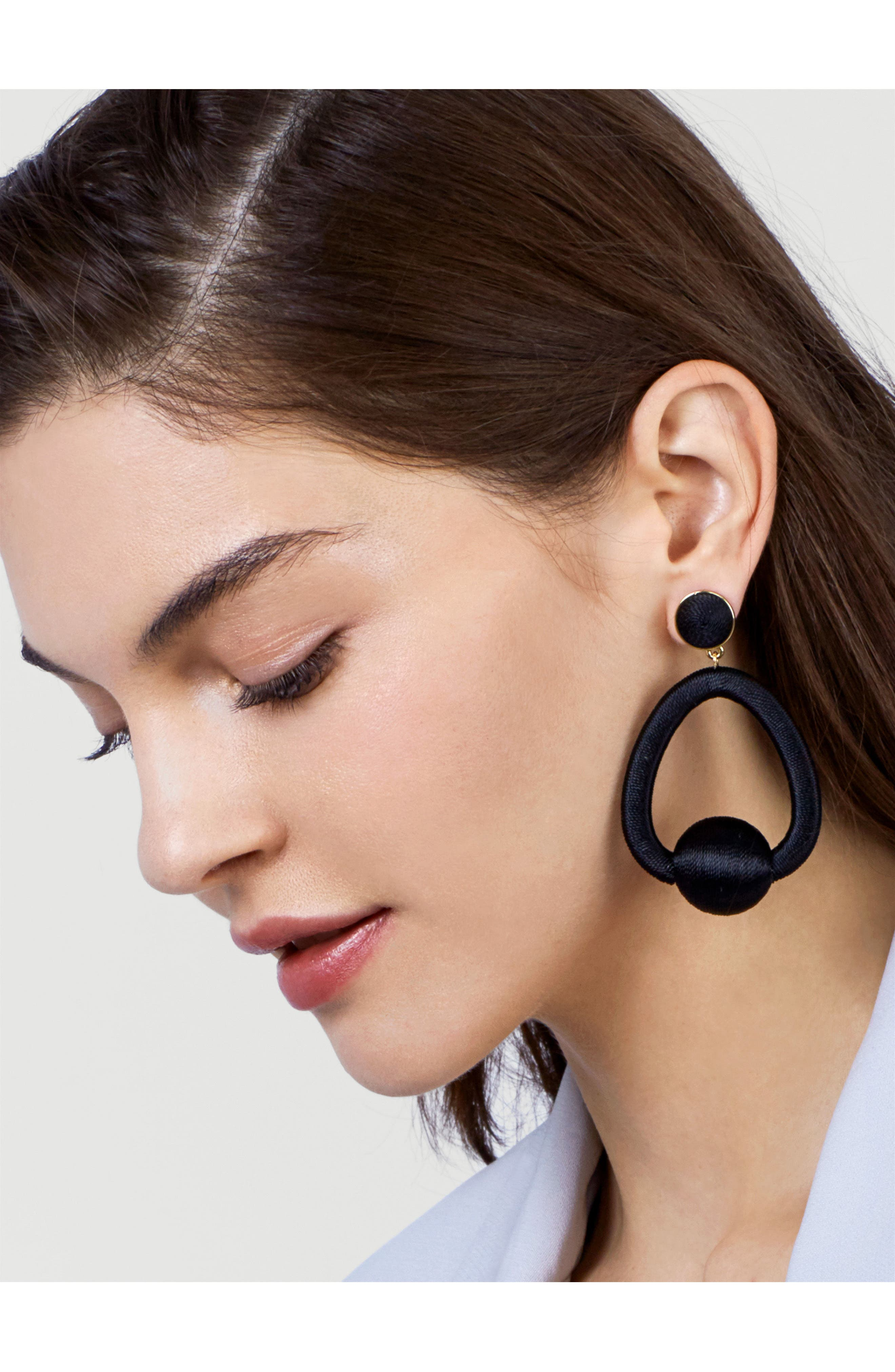 Mariela Hoop Earrings,                             Alternate thumbnail 2, color,                             001