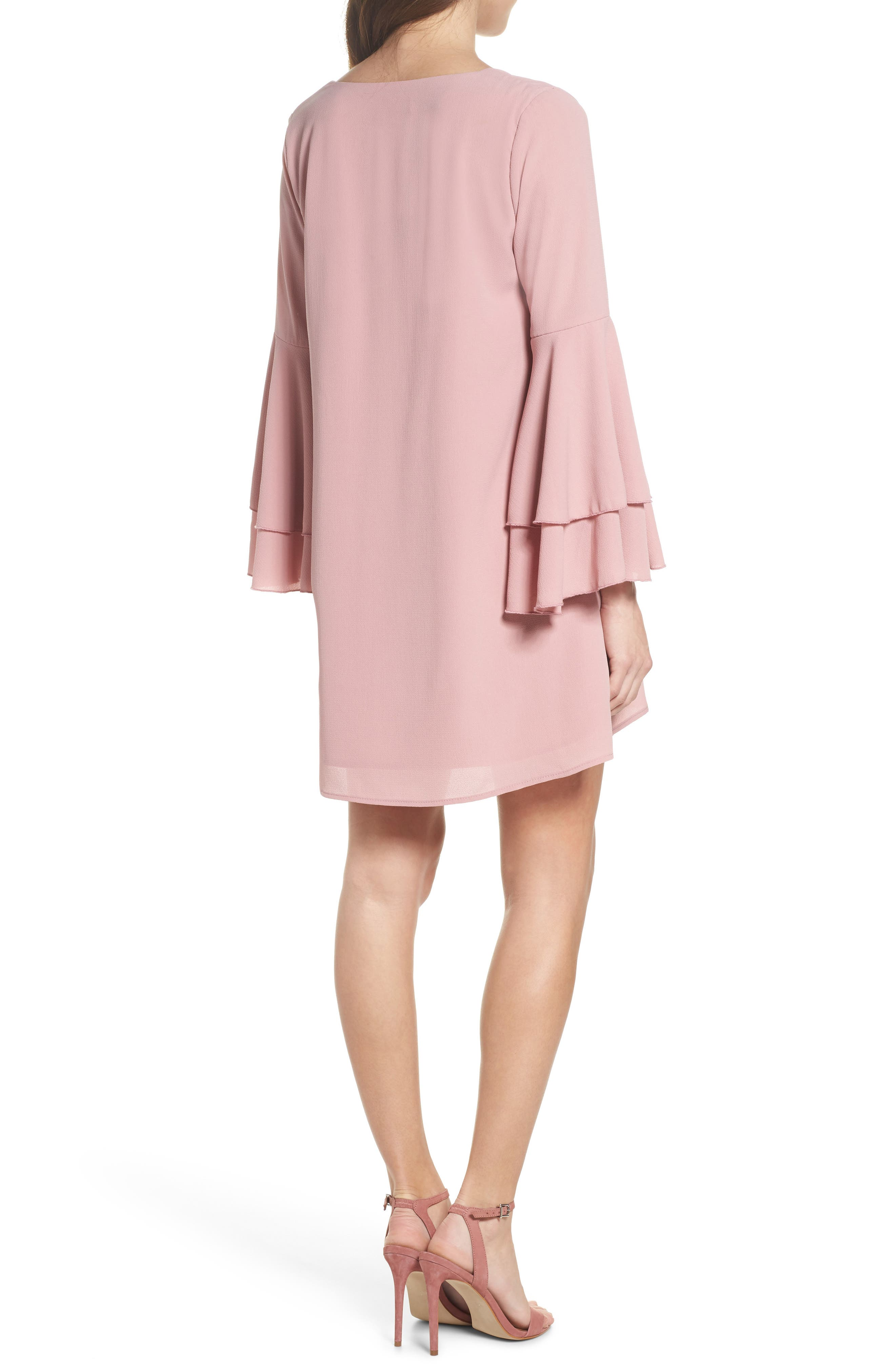 Bell Sleeve Dress,                             Alternate thumbnail 2, color,                             681