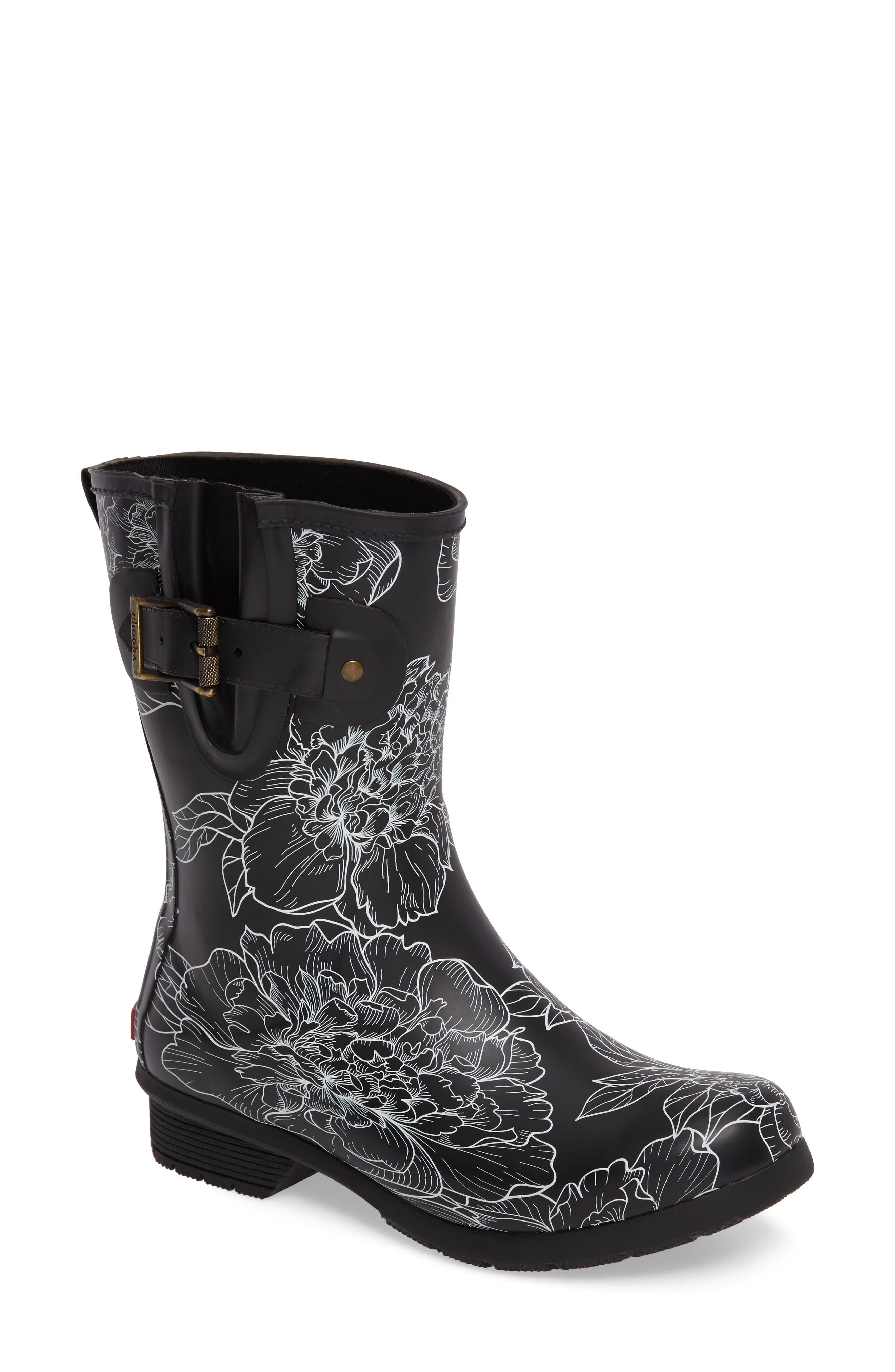 Cora Mid Rain Boot,                         Main,                         color, 001