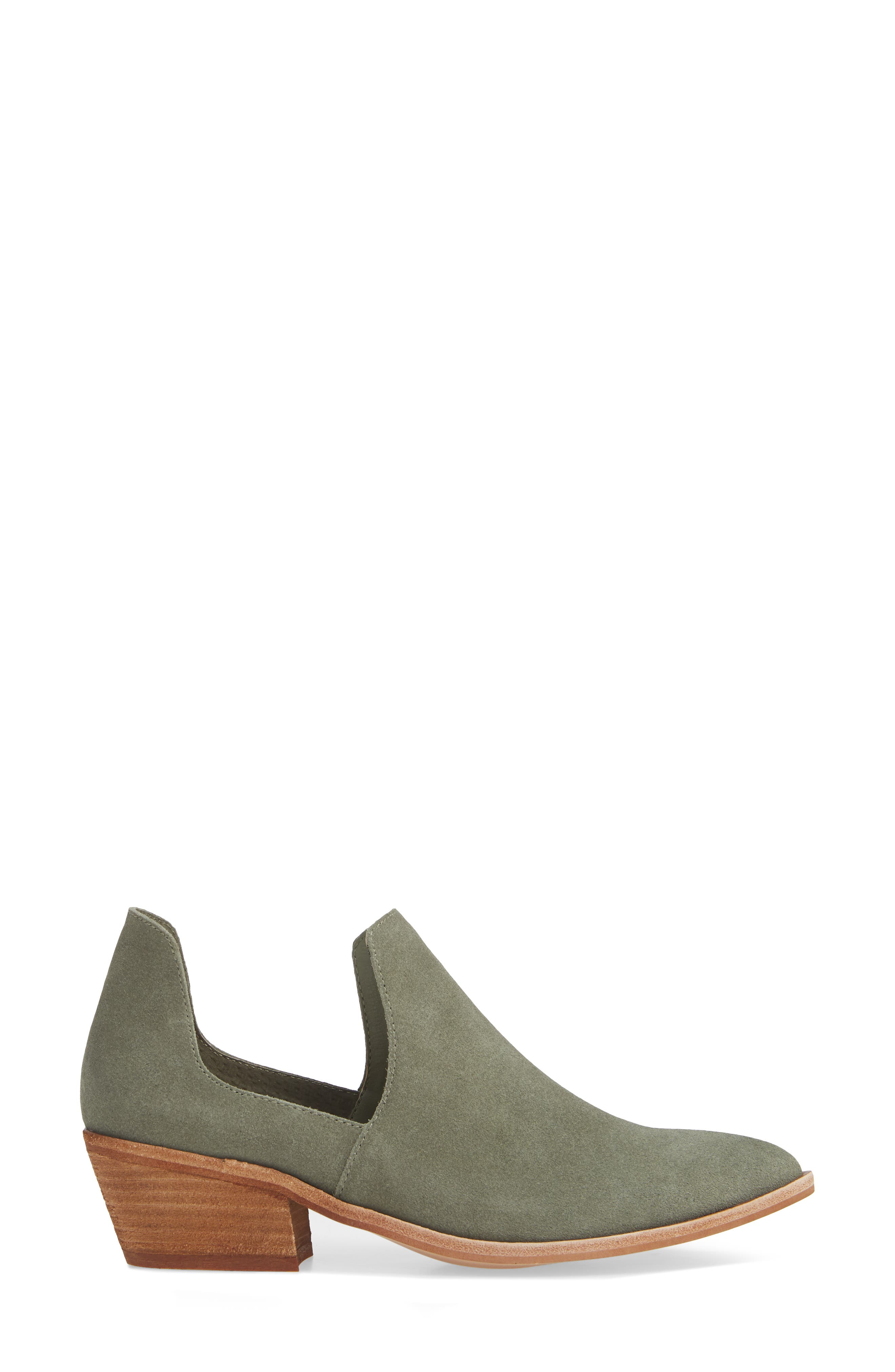 Focus Open Sided Bootie,                             Alternate thumbnail 3, color,                             OLIVE SUEDE