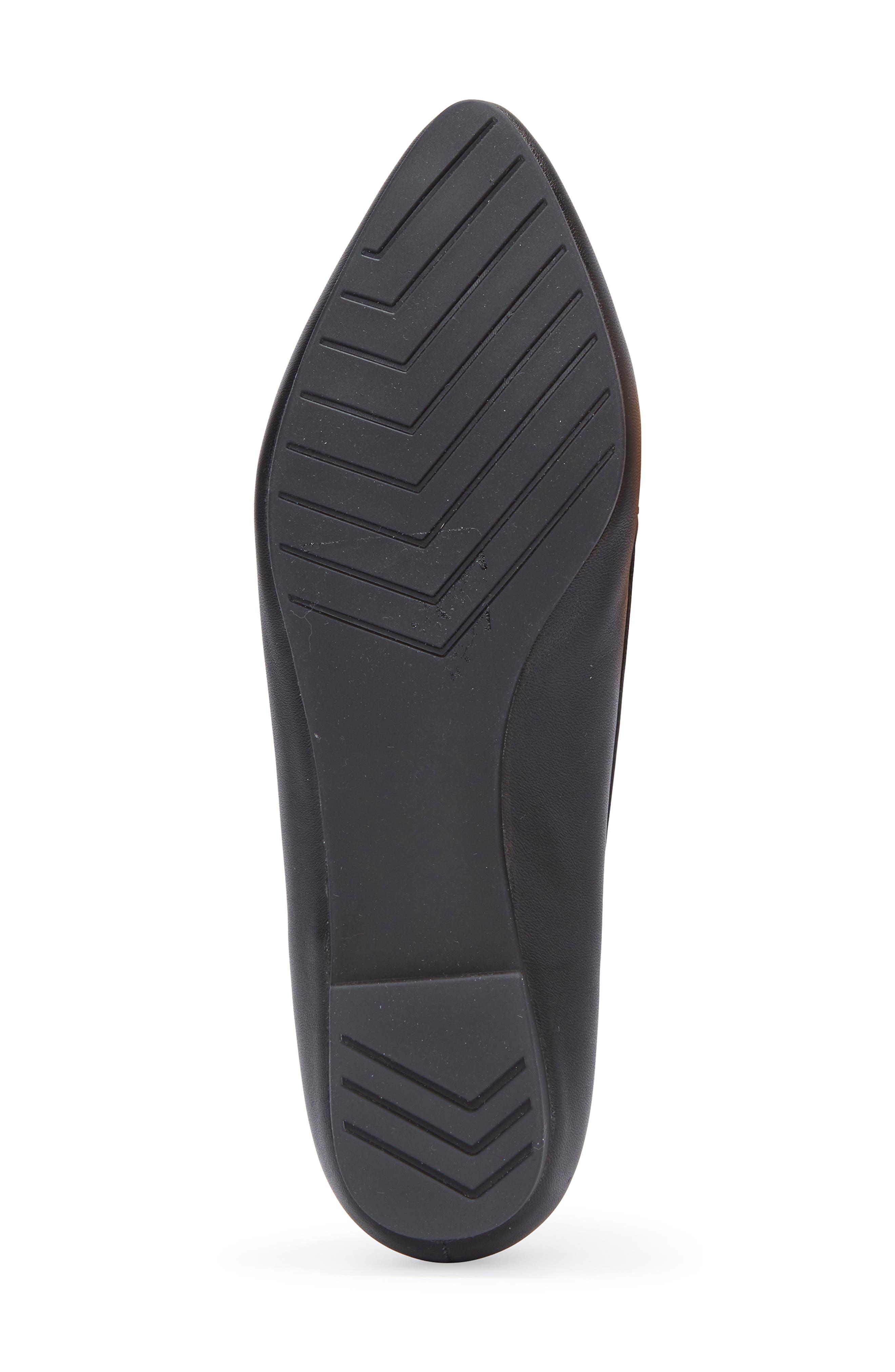 Audra Loafer Flat,                             Alternate thumbnail 6, color,                             BLACK/ BLACK LEATHER
