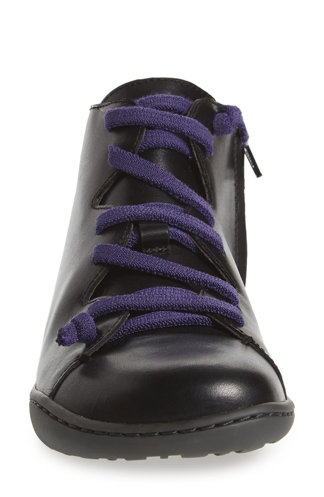 'Peu Cami' Mid Sneaker,                             Alternate thumbnail 4, color,                             BLACK LEATHER