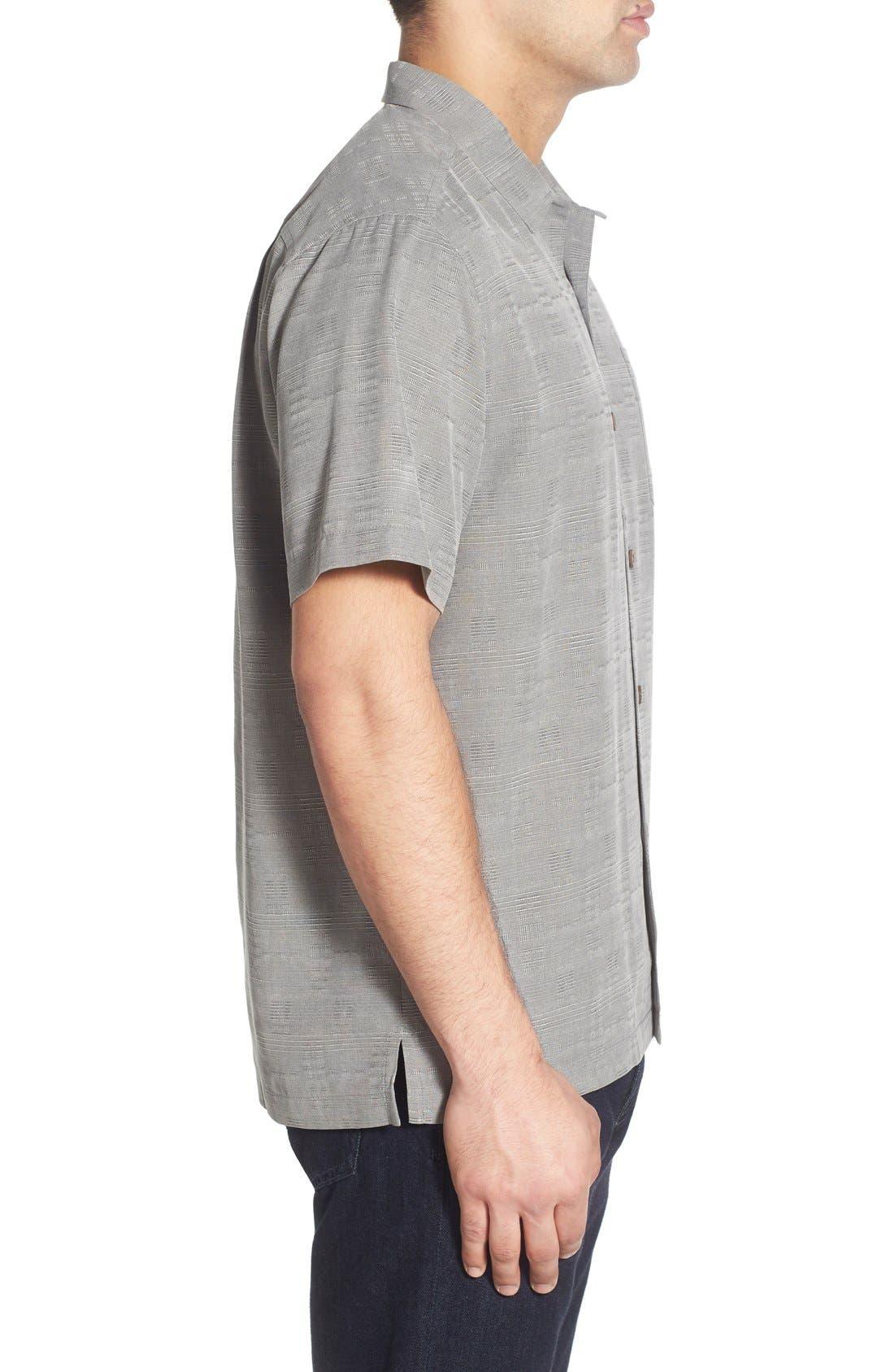 Original Fit Jacquard Silk Camp Shirt,                             Alternate thumbnail 7, color,