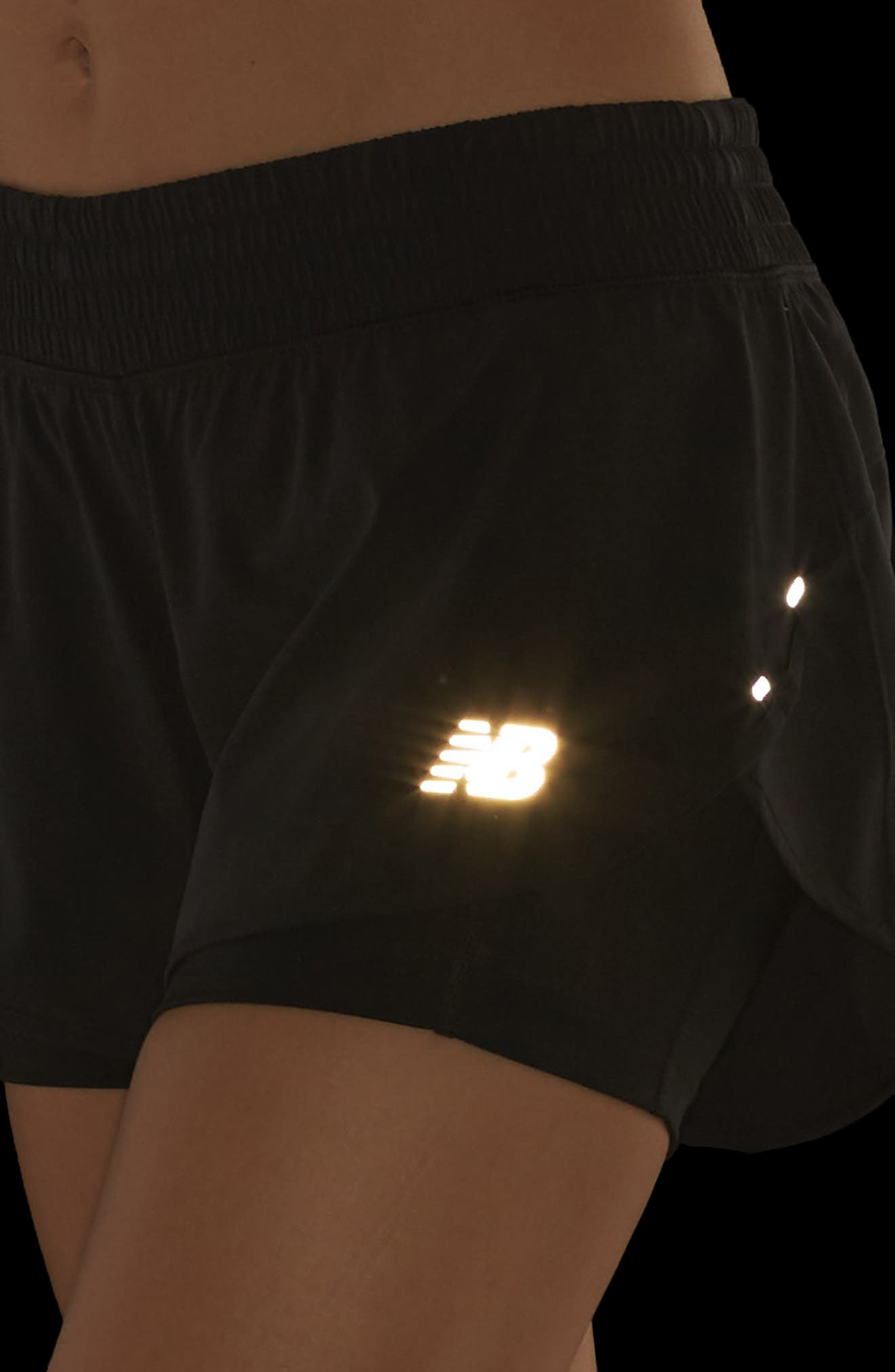 Impact Layered Running Shorts,                             Alternate thumbnail 4, color,                             001