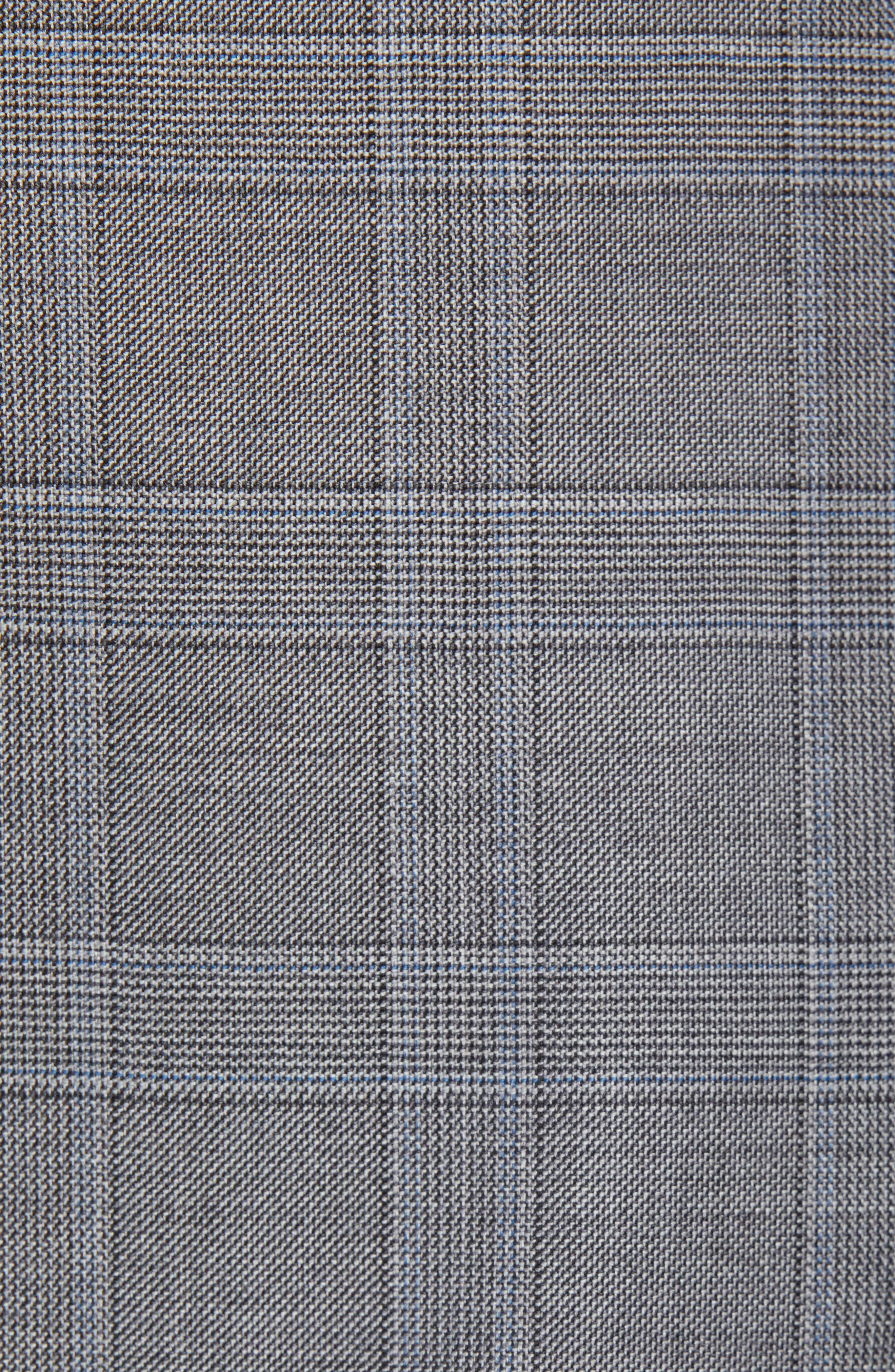 New York Classic Fit Plaid Wool Suit,                             Alternate thumbnail 7, color,                             MID GREY