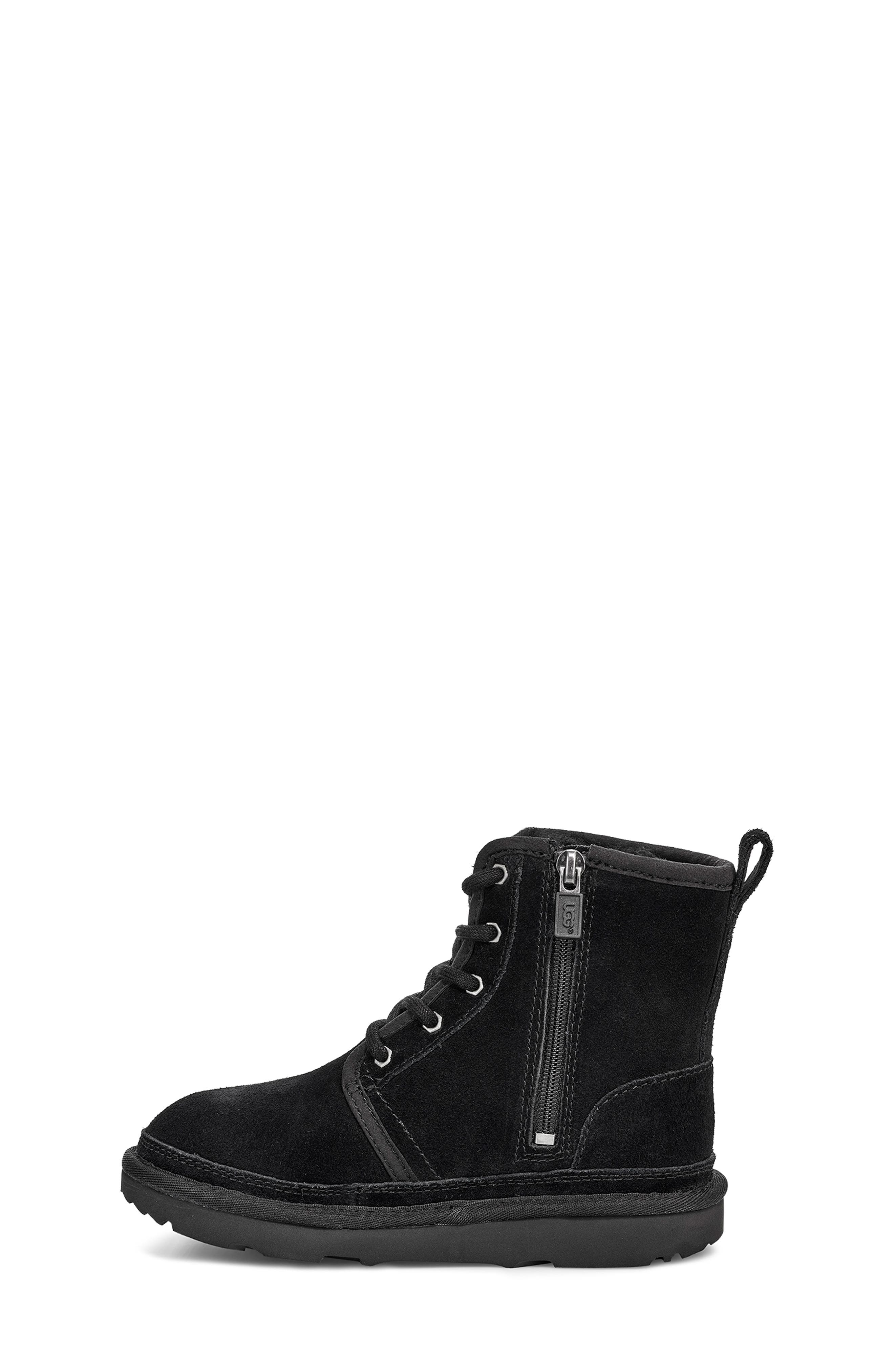 Harkley Lace-Up Boot,                             Alternate thumbnail 3, color,                             BLACK