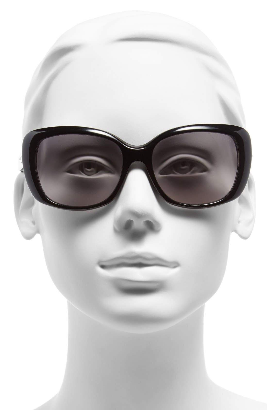 56mm Sunglasses,                             Alternate thumbnail 4, color,                             001