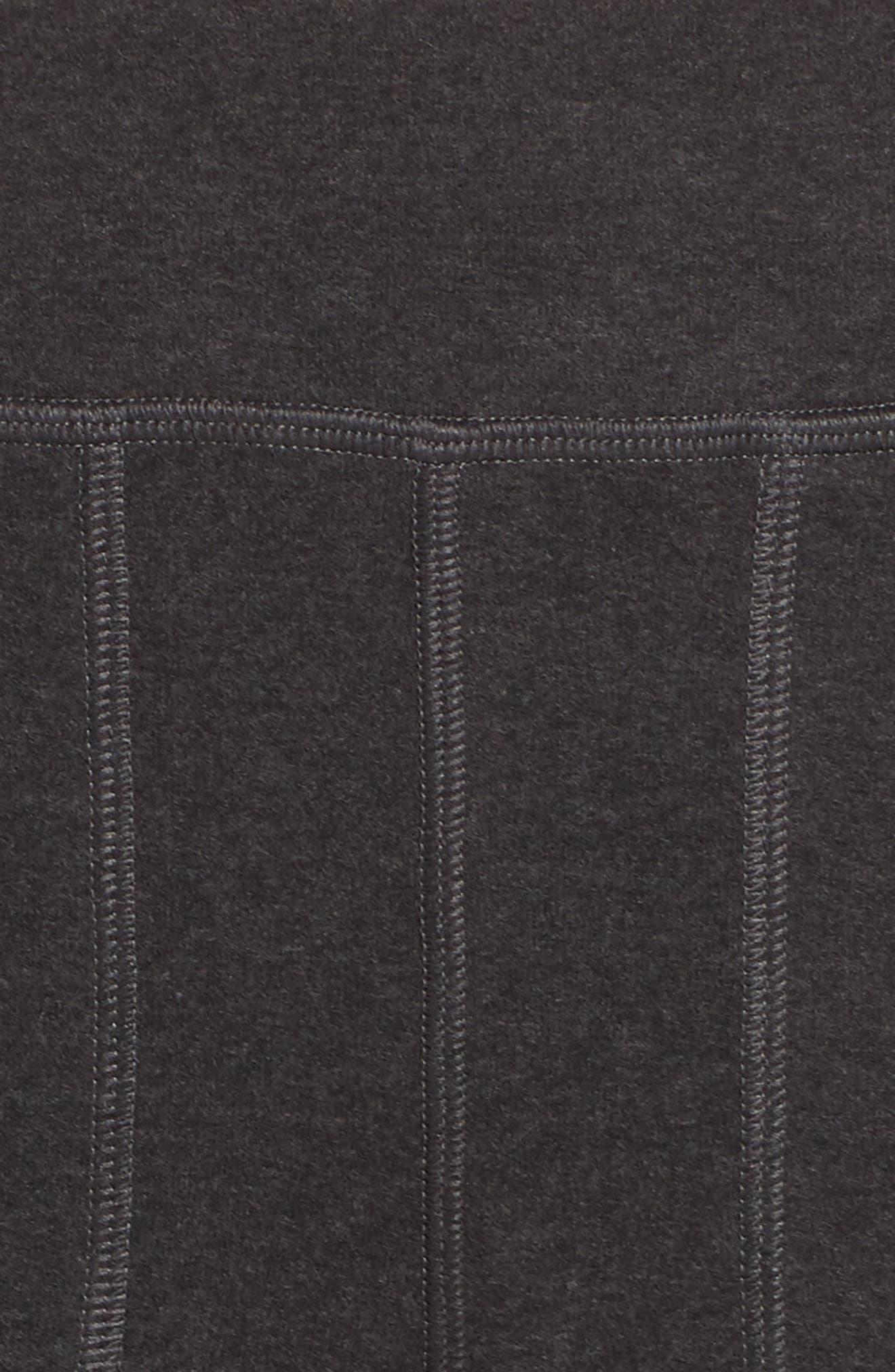 Luxe Liberty Jogger Pants,                             Alternate thumbnail 6, color,                             BLACK MARL