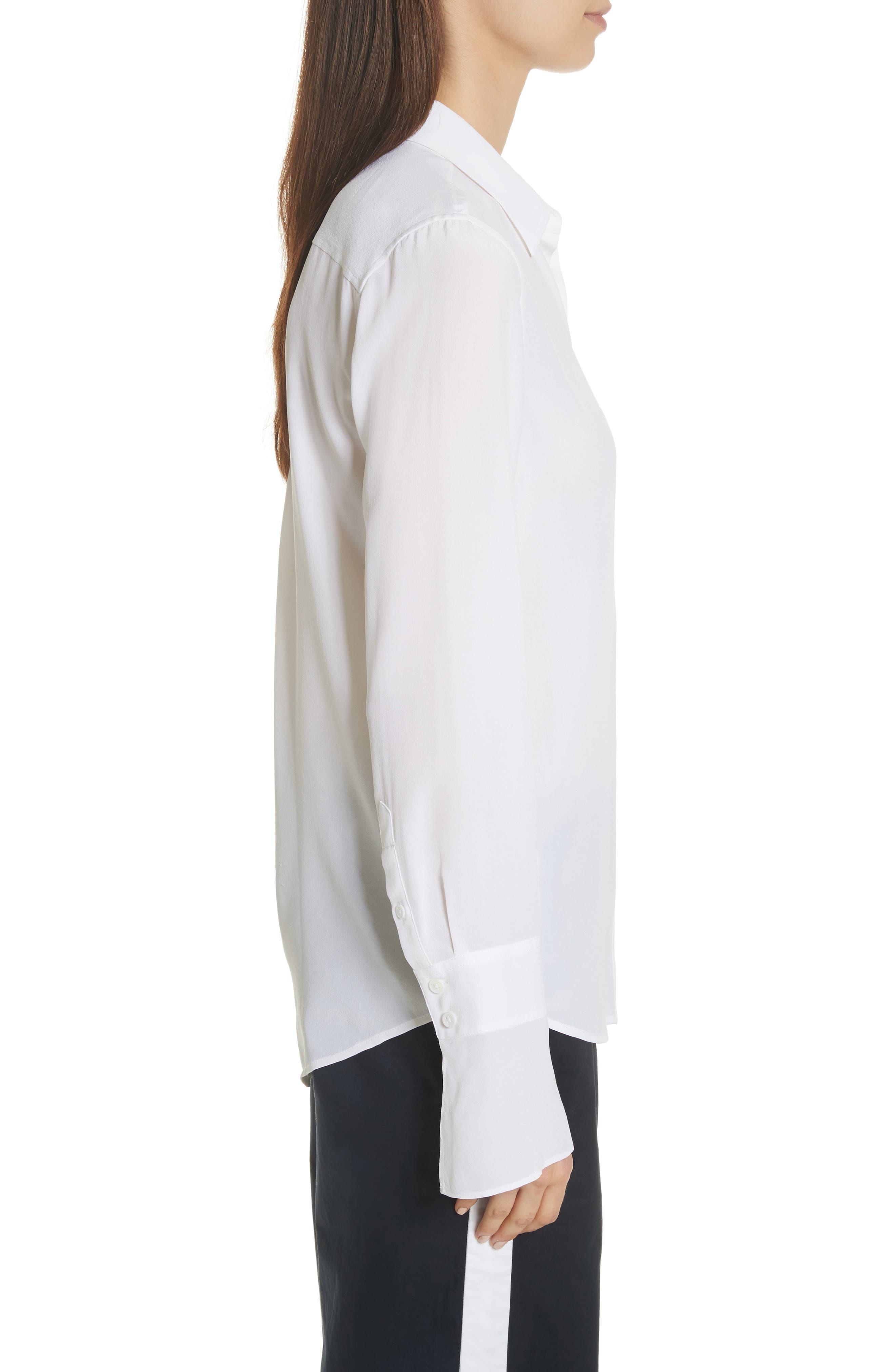 Daphine Bell Cuff Silk Shirt,                             Alternate thumbnail 6, color,