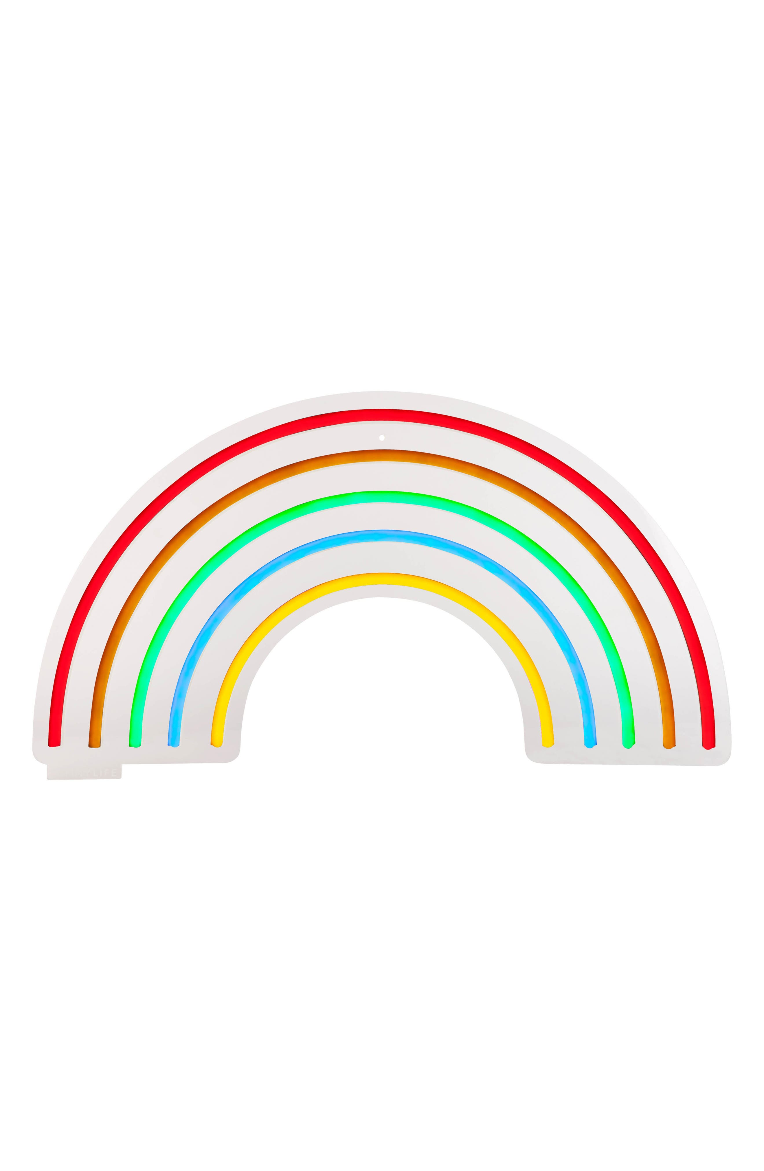 Rainbow Neon LED Wall Light,                         Main,                         color, 100