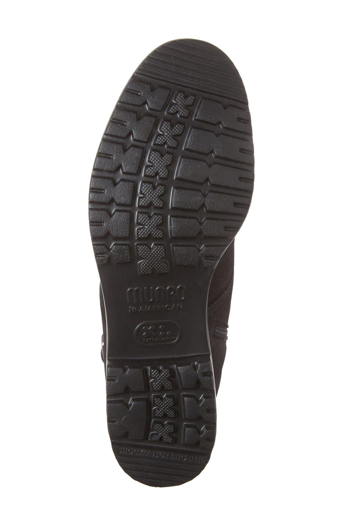Bradley Water Resistant Boot,                             Alternate thumbnail 4, color,                             BLACK TUMBLED NUBUCK LEATHER