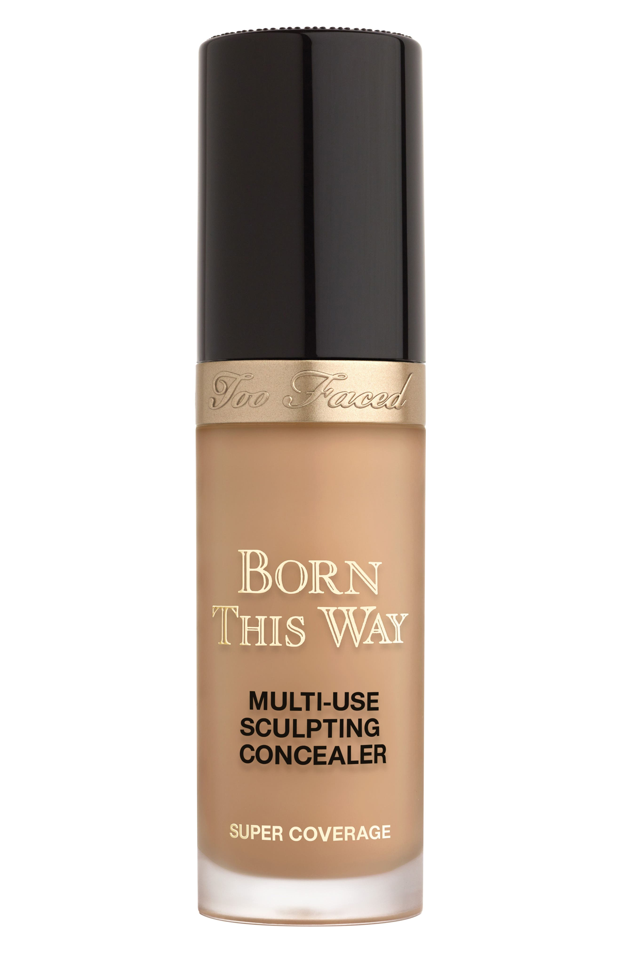 TOO FACED Born This Way Super Coverage Multi-Use Sculpting Concealer, Main, color, HONEY