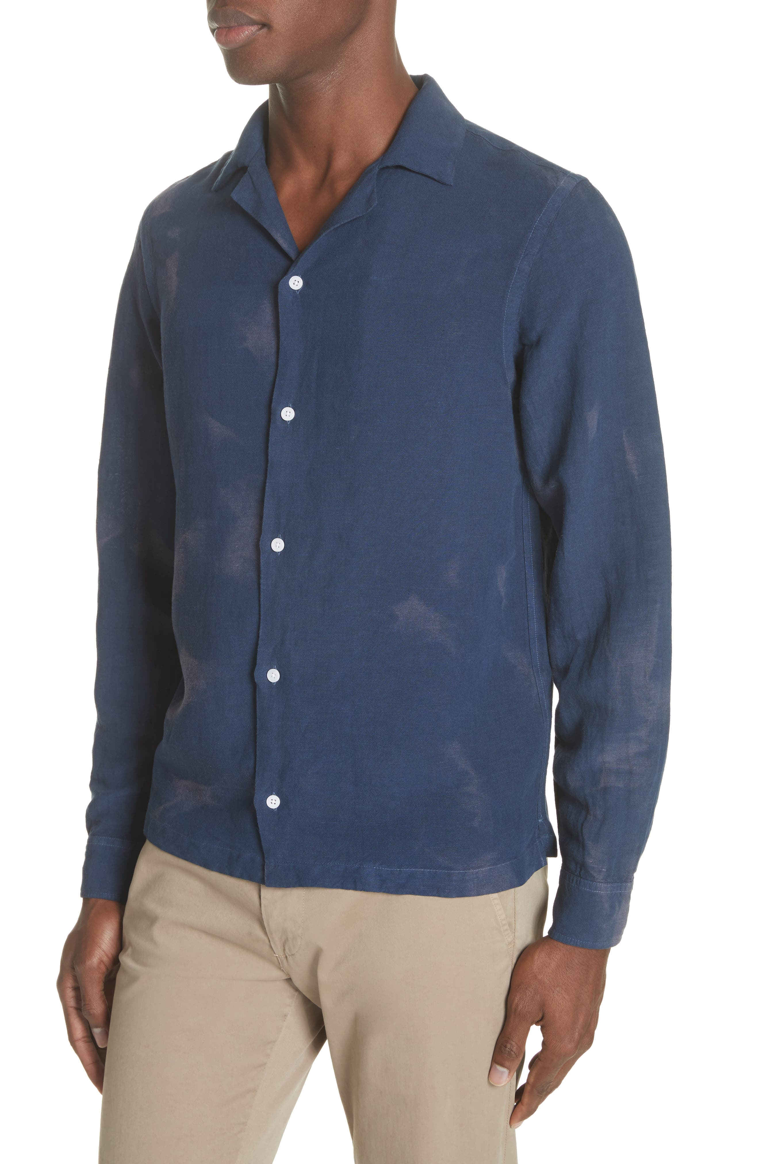 Canty Long Sleeve Camp Shirt,                             Alternate thumbnail 4, color,                             406