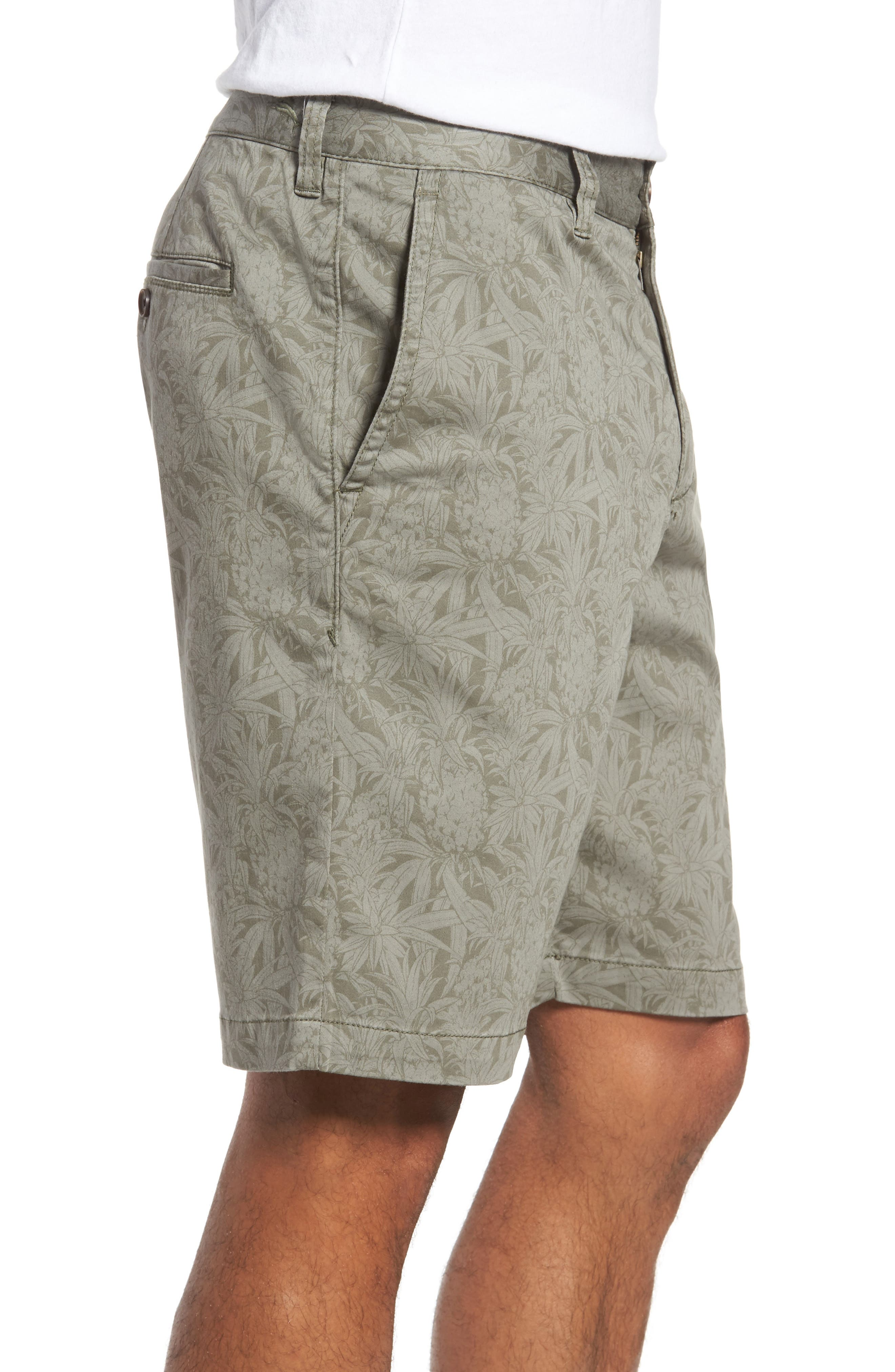 Camo Tropic Standard Fit Chino Shorts,                             Alternate thumbnail 3, color,                             300