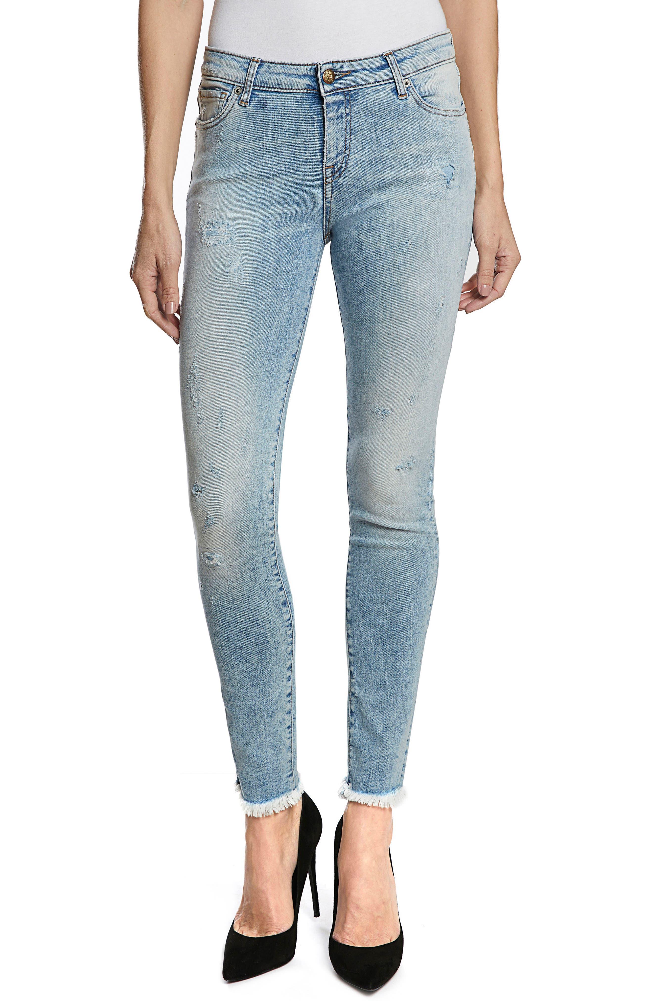 PRPS Camaro Ankle Skinny Jeans, Main, color, 490