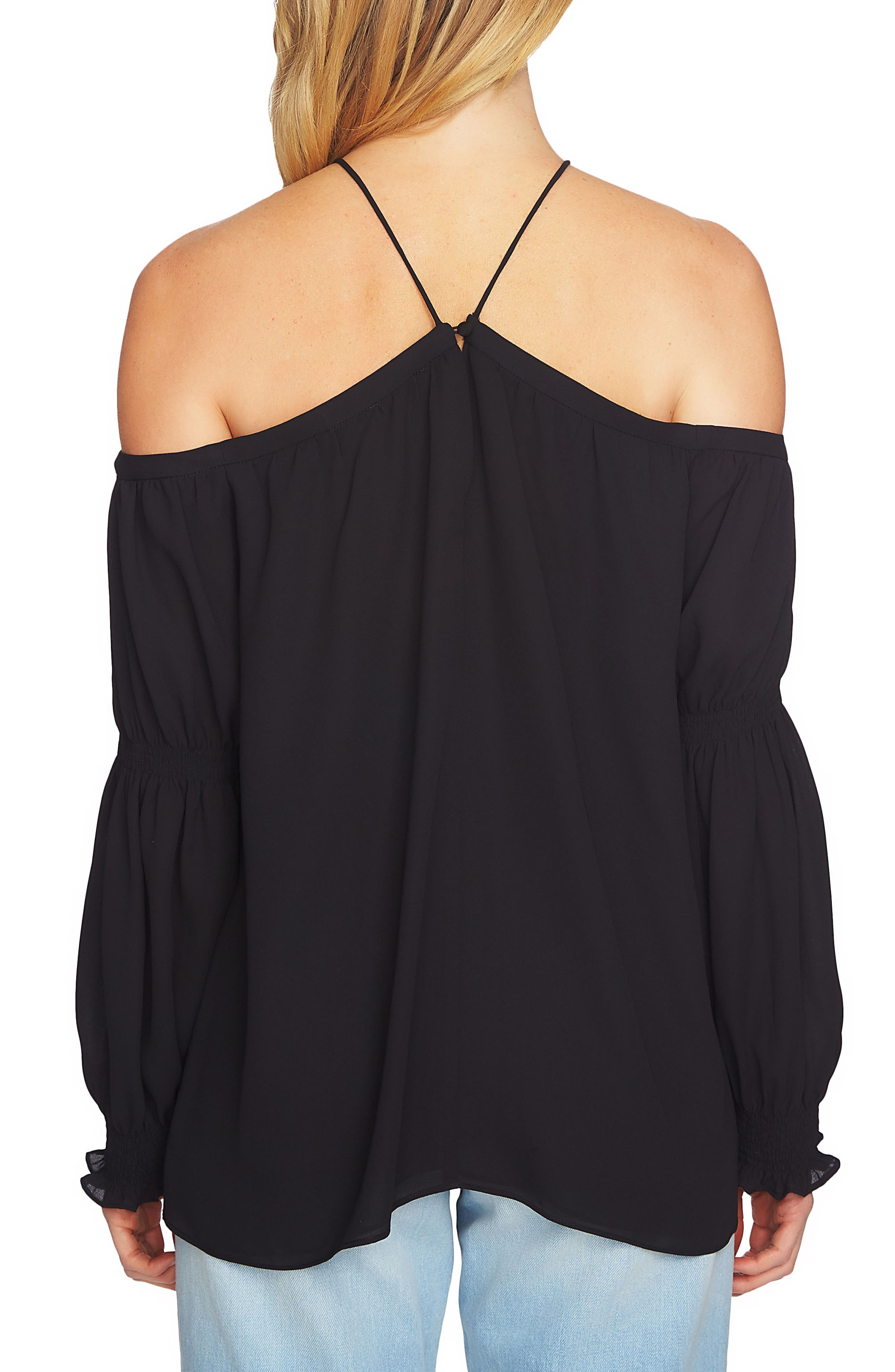 Off the Shoulder Blouse,                             Alternate thumbnail 3, color,
