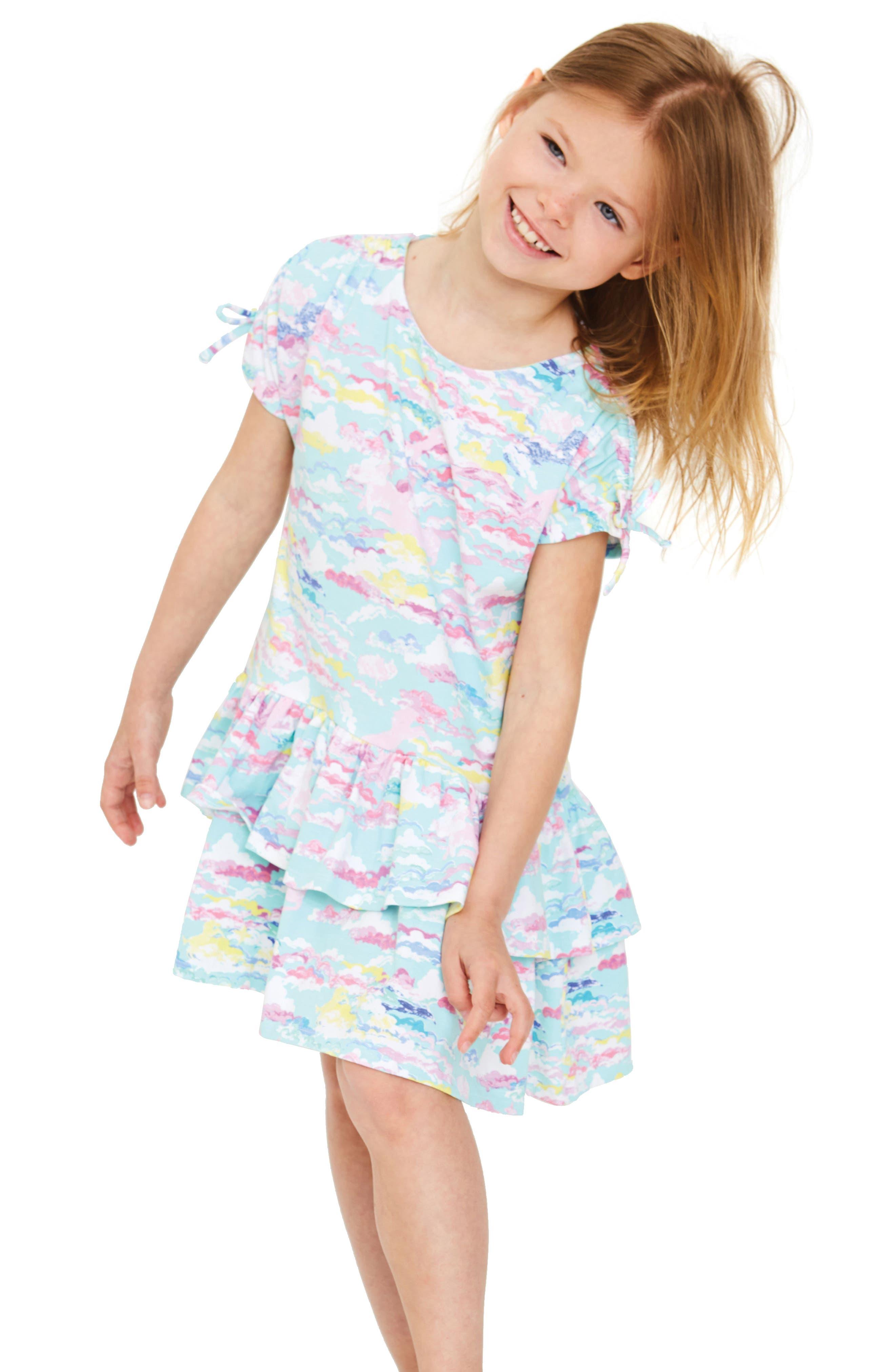 Meadow Ruffle Hem Dress,                             Alternate thumbnail 2, color,                             463