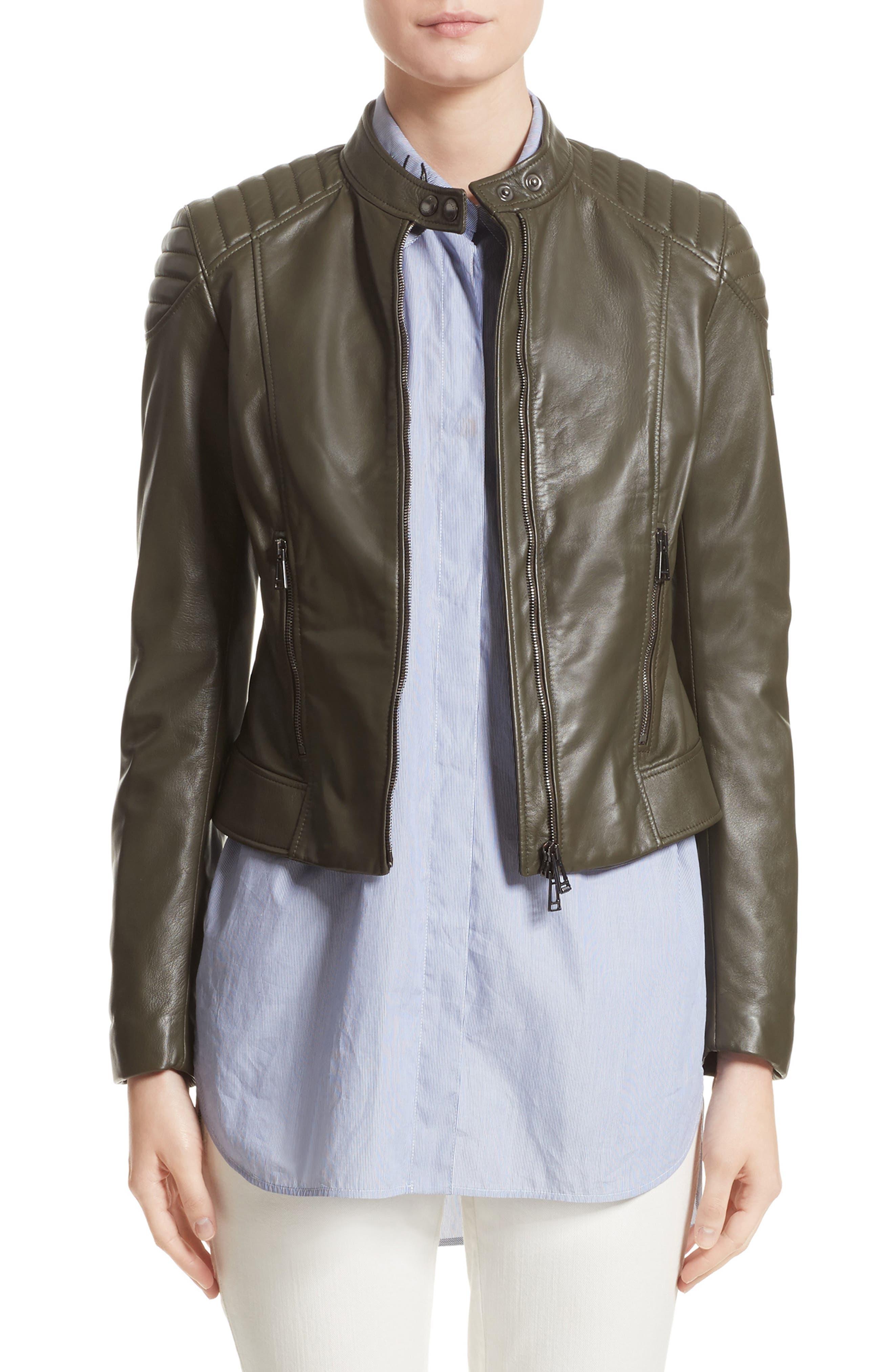 Mollison Leather Moto Jacket,                             Main thumbnail 1, color,