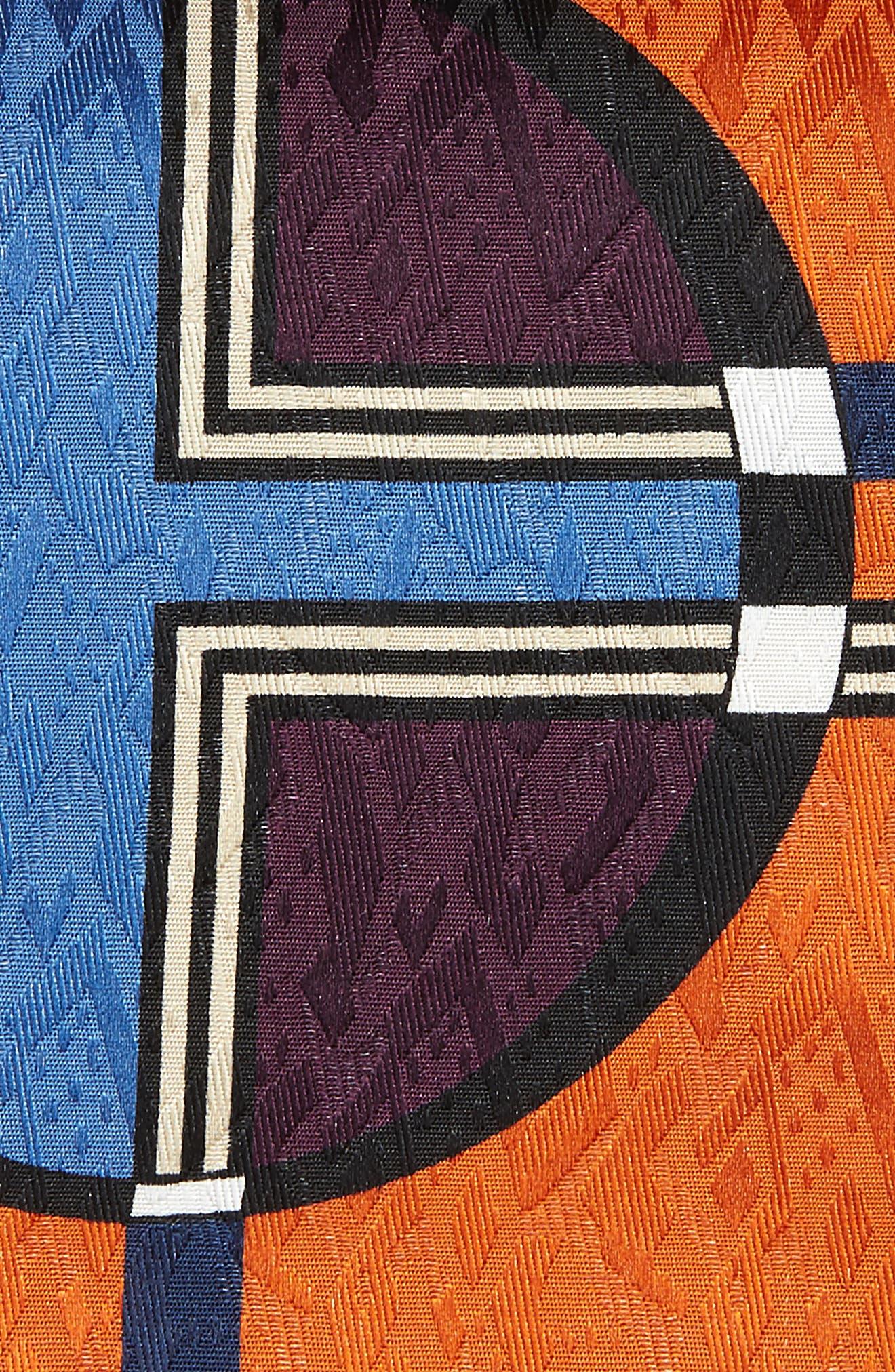 Dot Jacquard Silk Pocket Square,                             Alternate thumbnail 9, color,