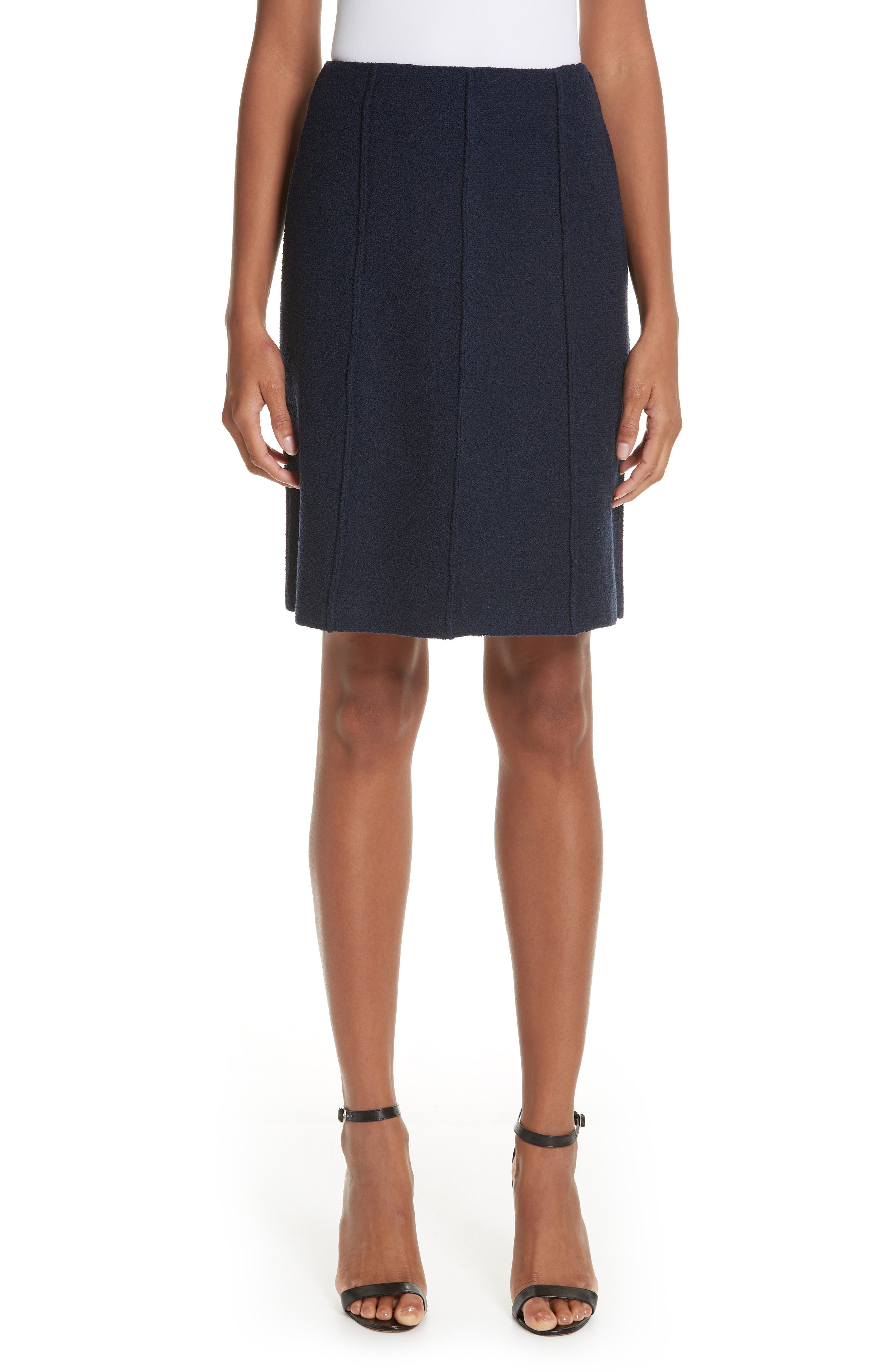 Ana Boucle Knit A-Line Skirt in Dpbl