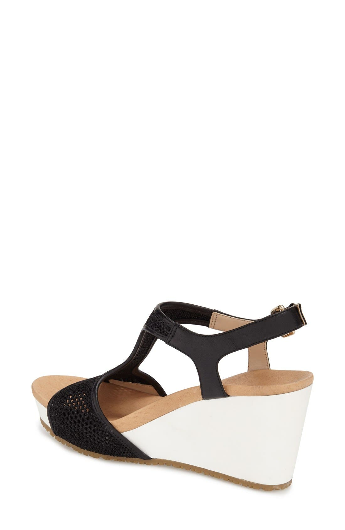 'Original Collection Wiley' Wedge Sandal,                             Alternate thumbnail 4, color,                             001