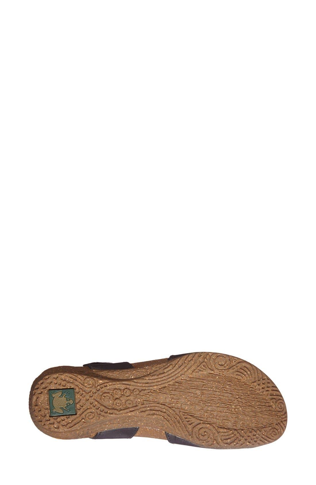 'Wakataua' Leather Flat,                             Alternate thumbnail 3, color,                             001