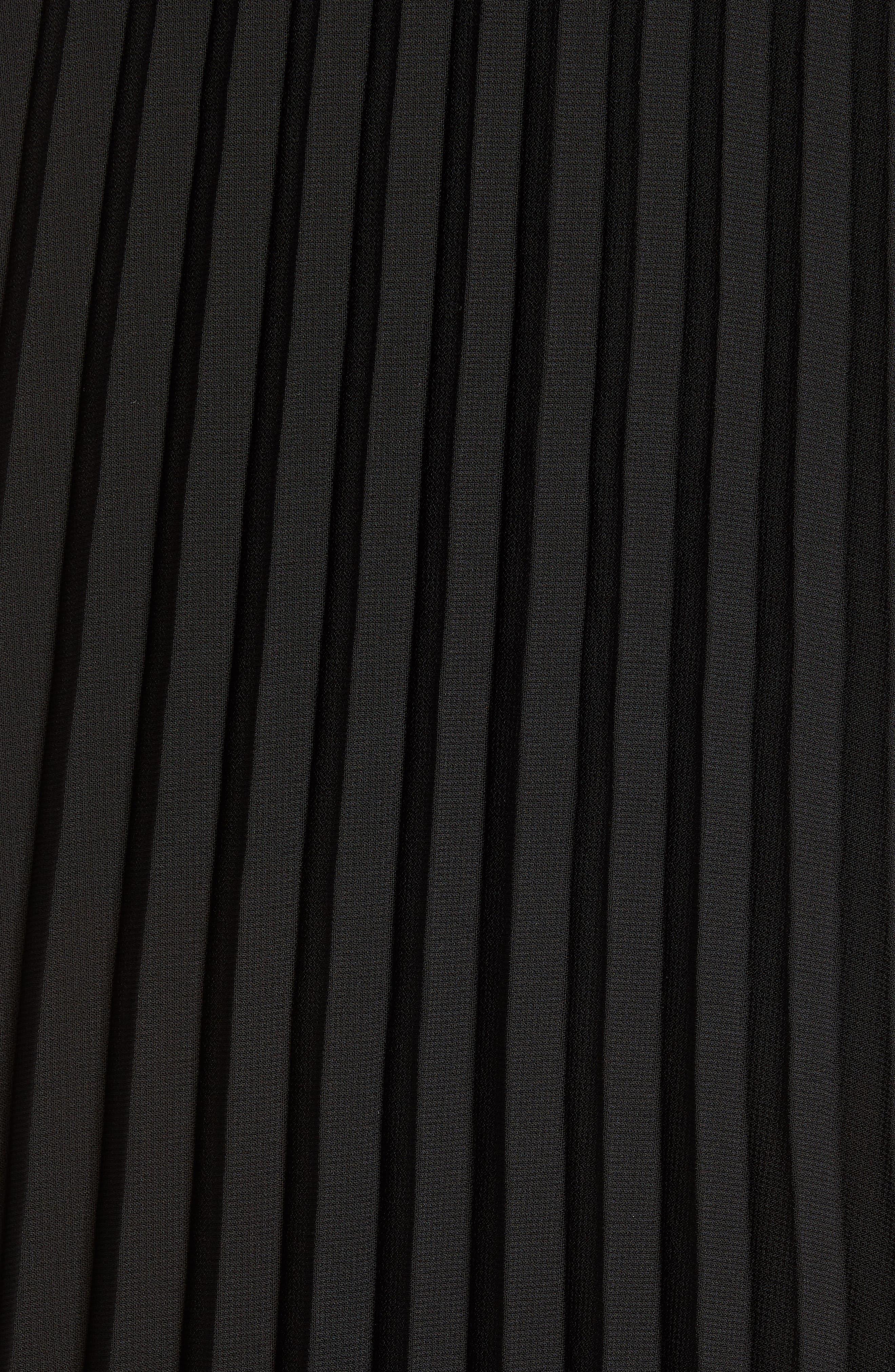 LOVE, FIRE,                             Pleated Georgette Midi Skirt,                             Alternate thumbnail 5, color,                             001