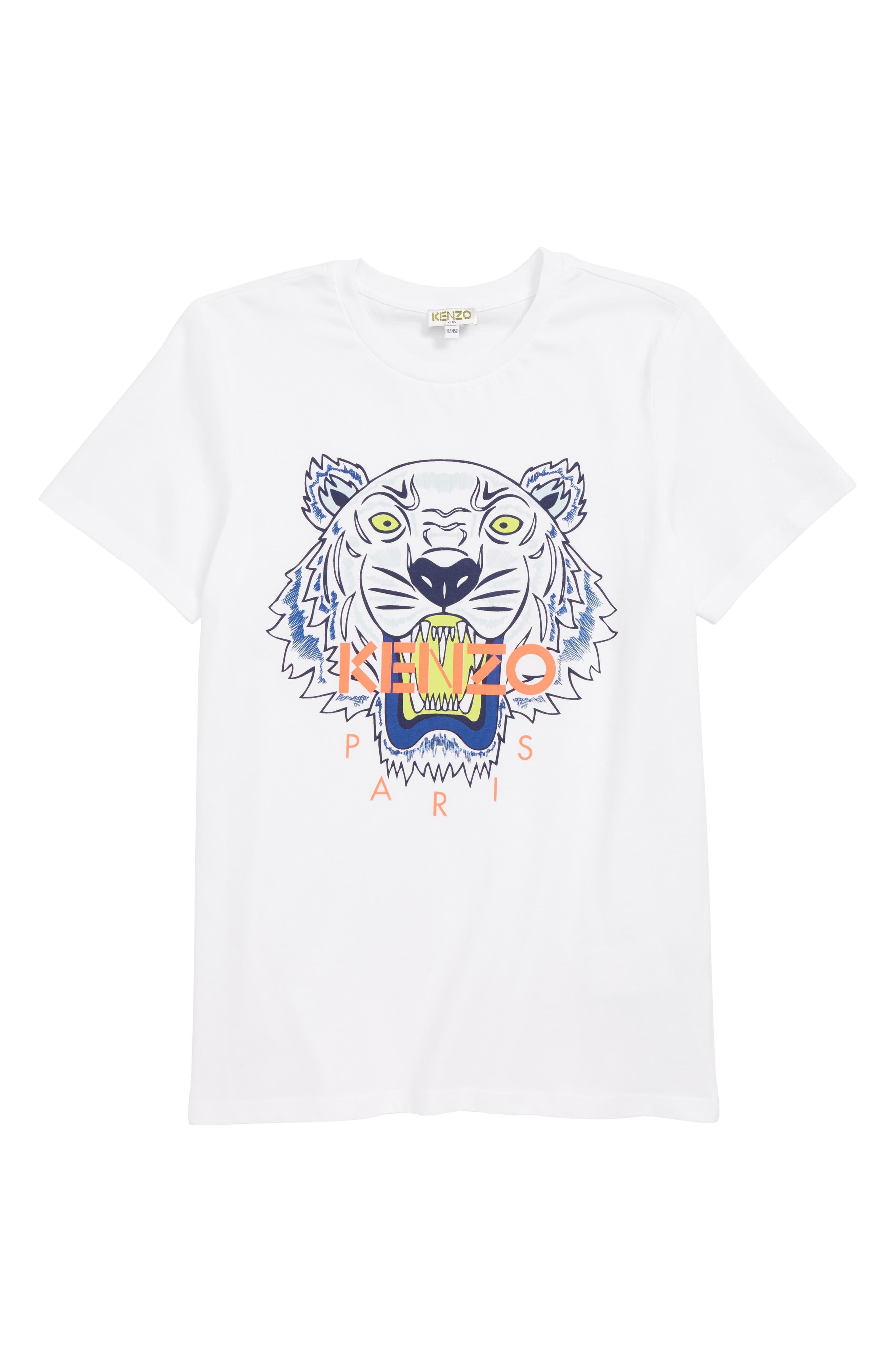 Boys Kenzo Tiger Graphic TShirt