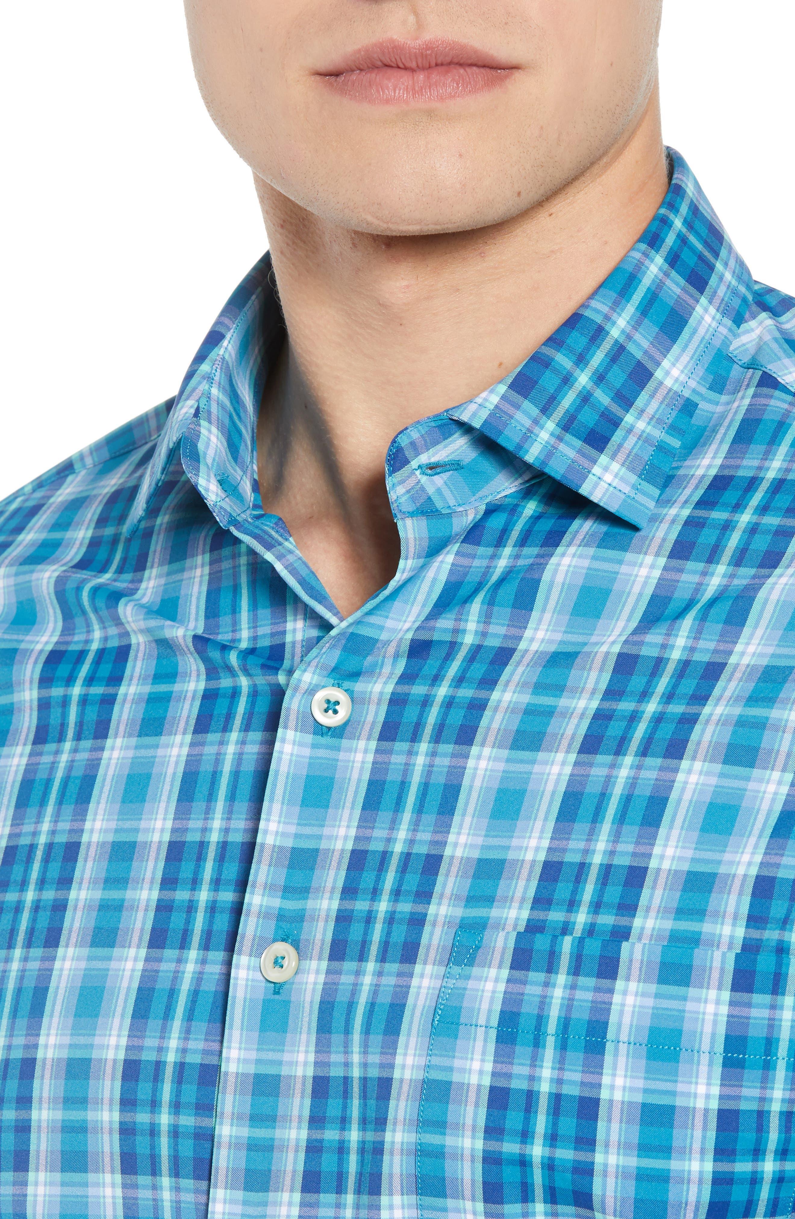 Van Regular Fit Check Performance Sport Shirt,                             Alternate thumbnail 2, color,                             BLUE