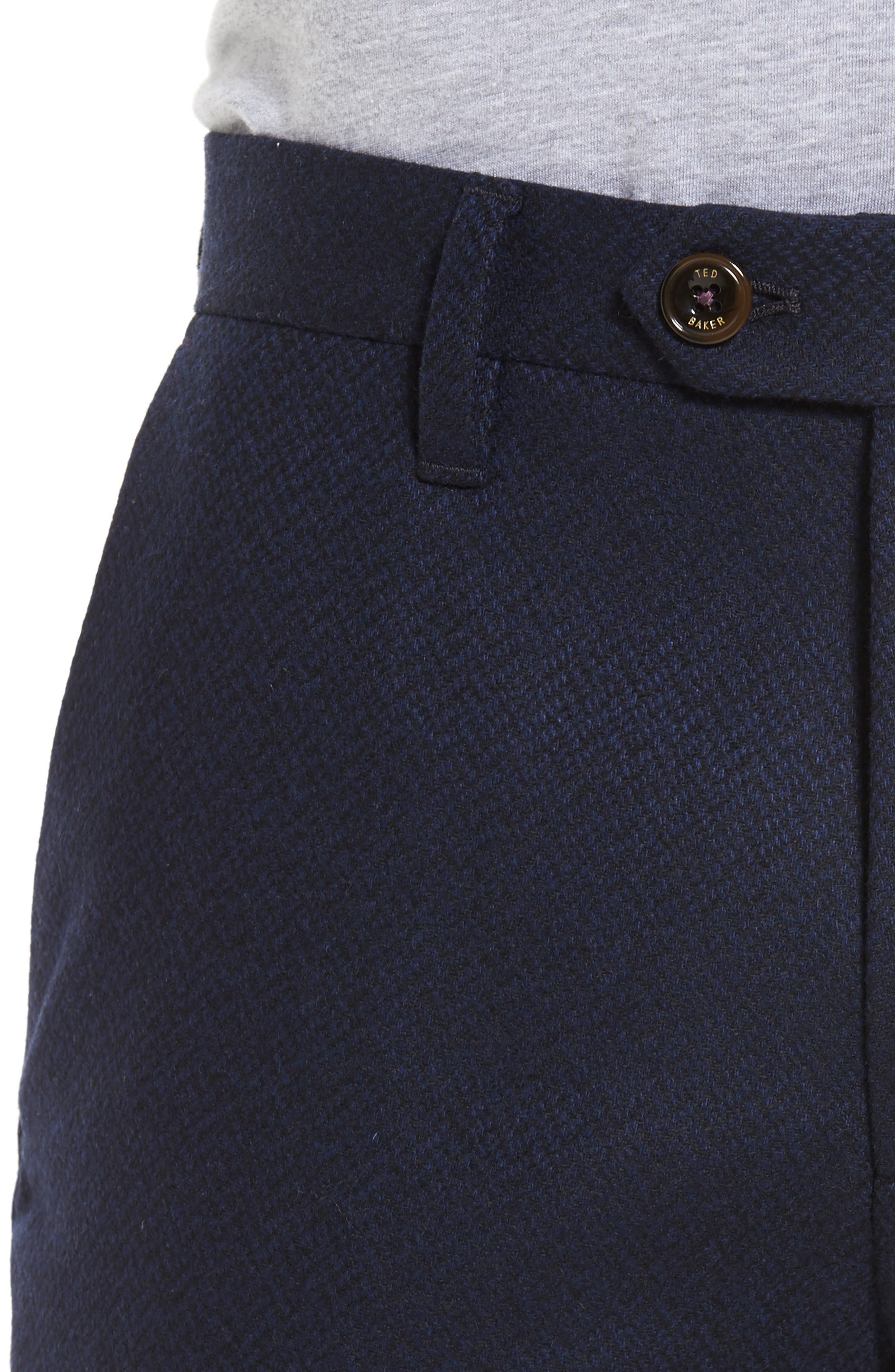 Glentro Semi Plain Wool Blend Trousers,                             Alternate thumbnail 4, color,                             410