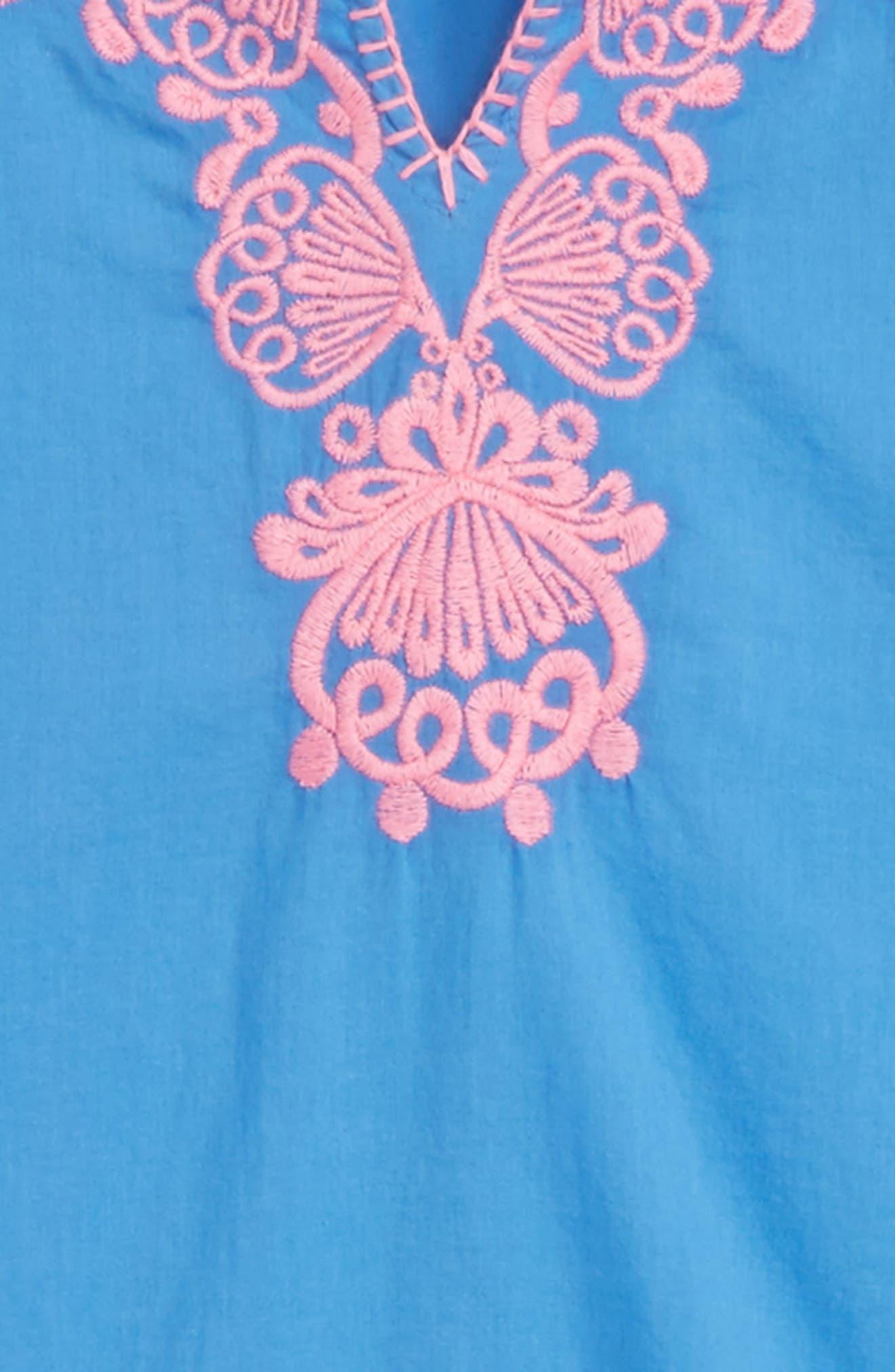 Mini Piet Cotton Cover-Up Dress,                             Alternate thumbnail 2, color,                             BENNET BLUE