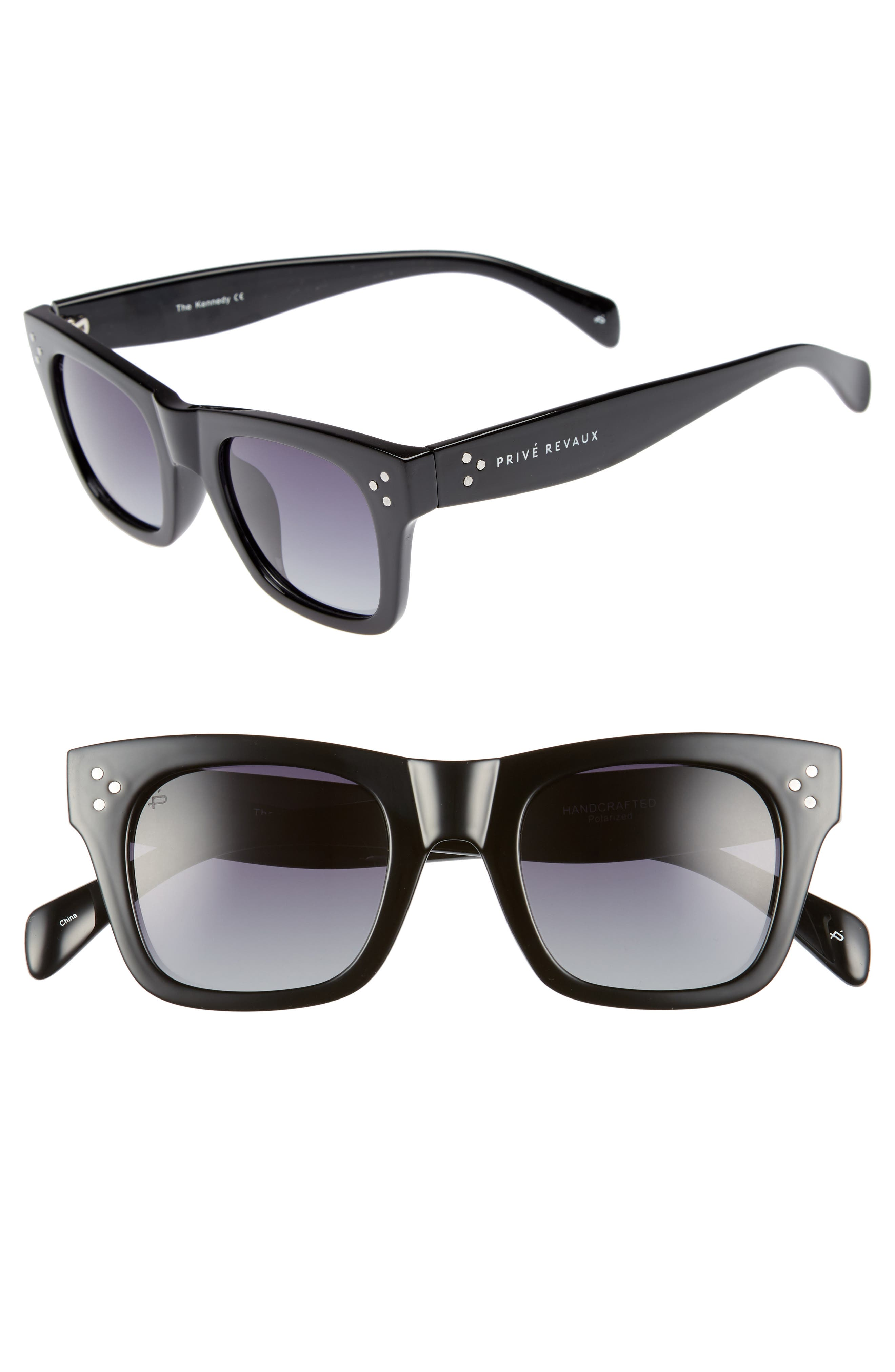 Privé Revaux The Kennedy 45mm Polarized Sunglasses,                             Main thumbnail 1, color,