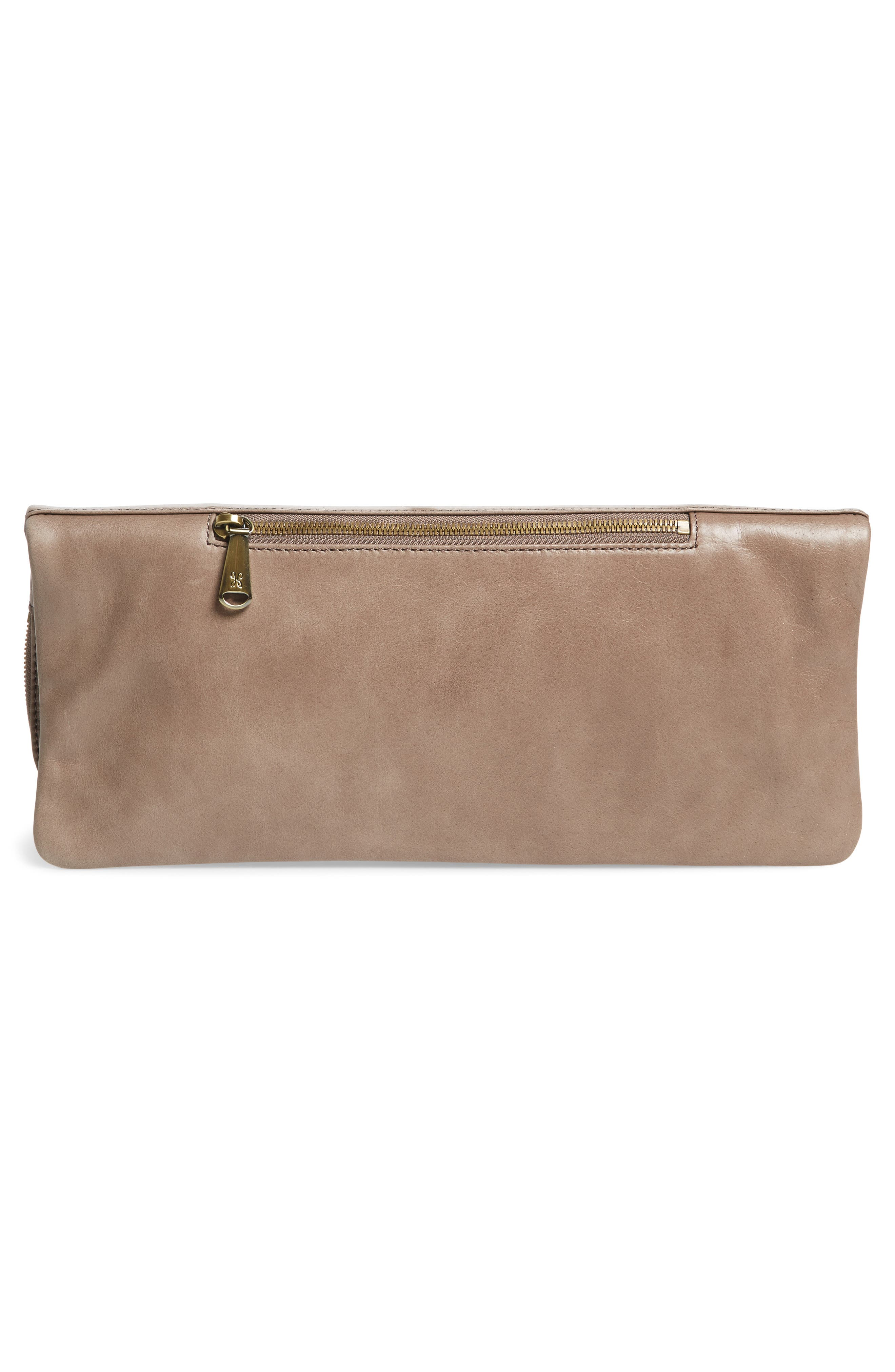 Raine Calfskin Leather Foldover Clutch,                             Alternate thumbnail 11, color,