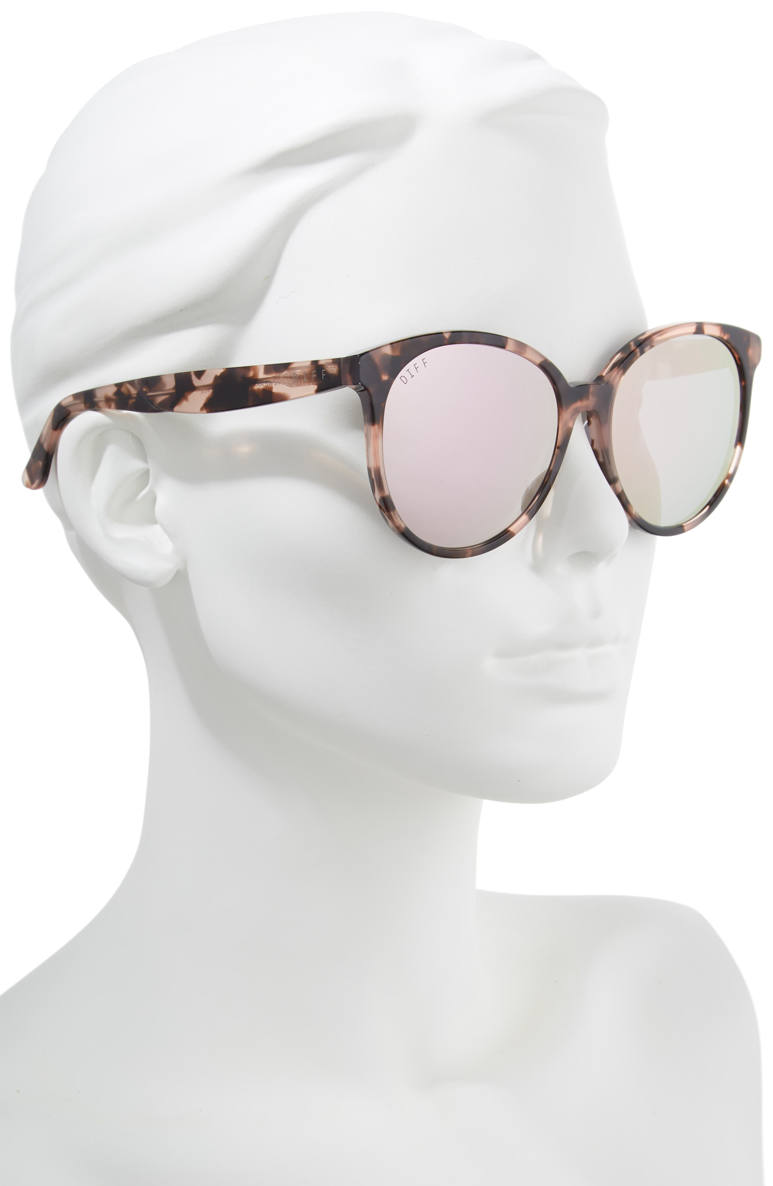 Cosmo 56mm Polarized Round Sunglasses,                             Alternate thumbnail 2, color,                             HIMALAYAN TORTOISE/ TAUPE