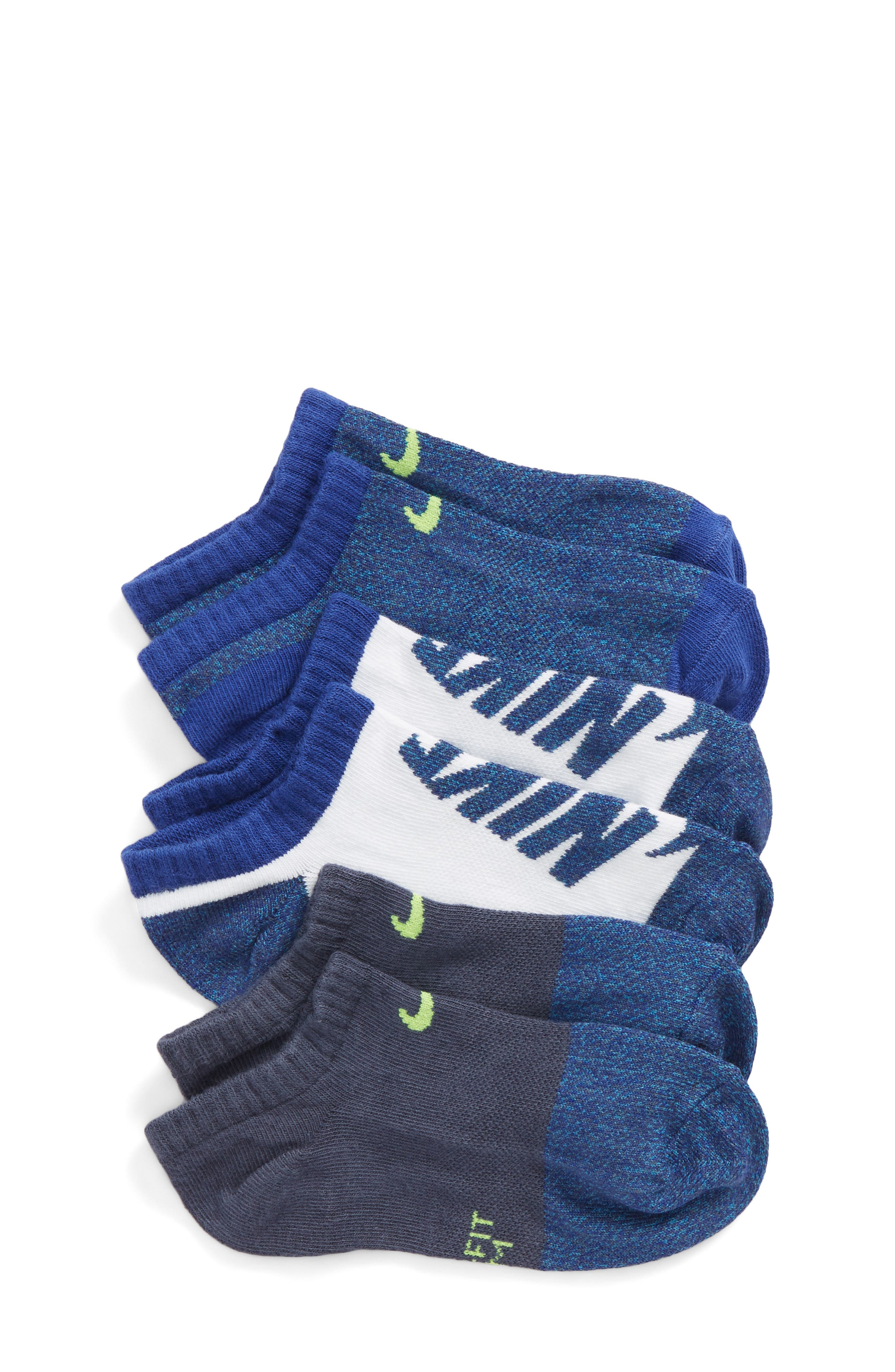 3-Pack Performance Lightweight No-Show Socks,                         Main,                         color,
