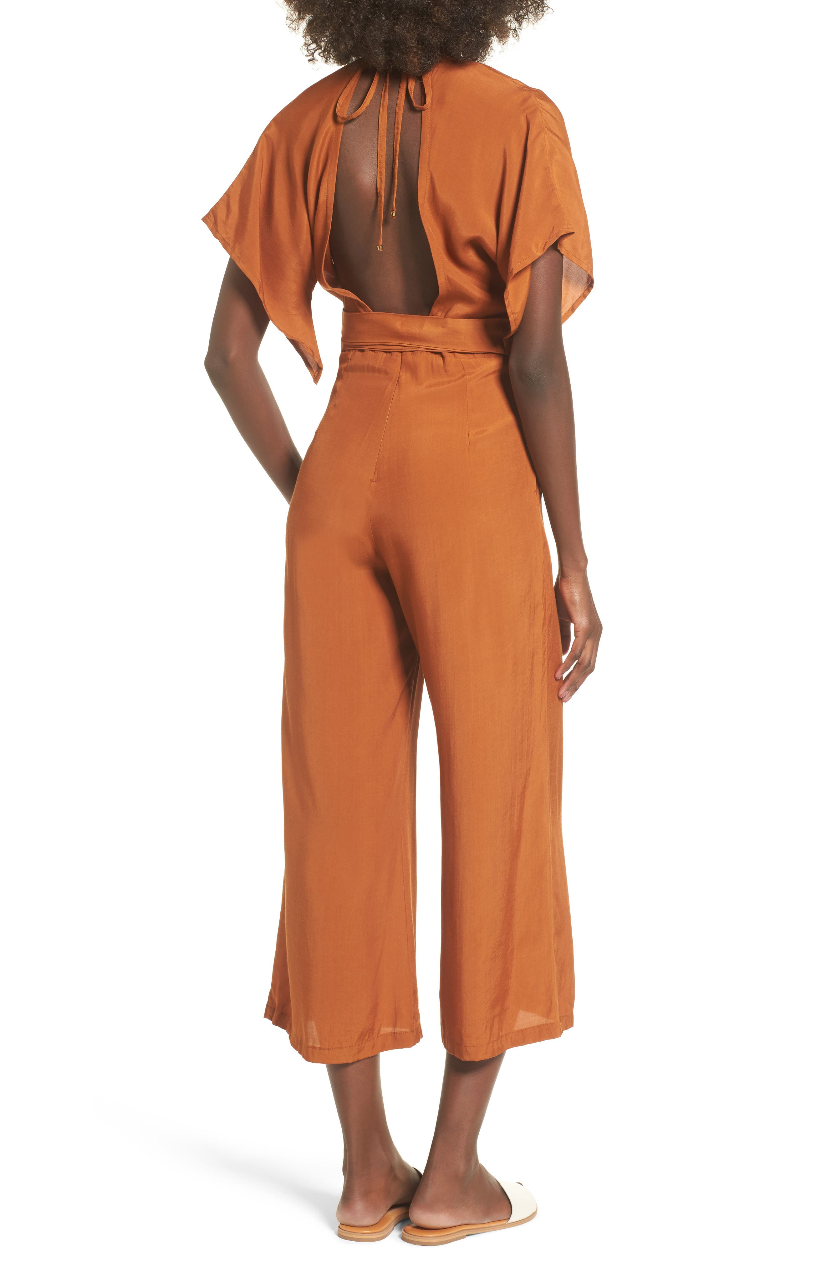 Cedric Plunging Jumpsuit,                             Alternate thumbnail 2, color,