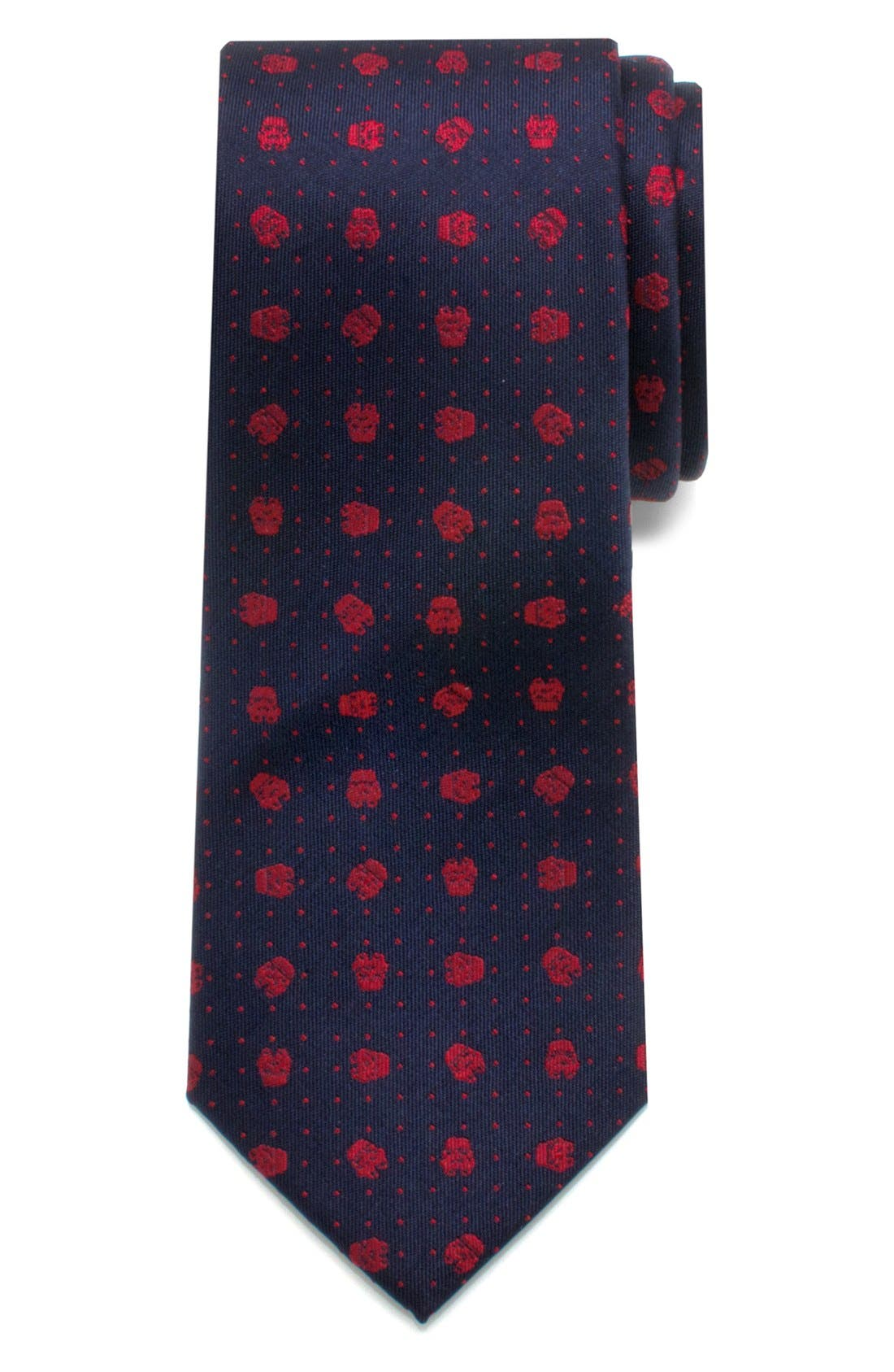 'Star Wars<sup>™</sup> - Stormtrooper Dot' Silk Tie,                             Main thumbnail 1, color,                             400
