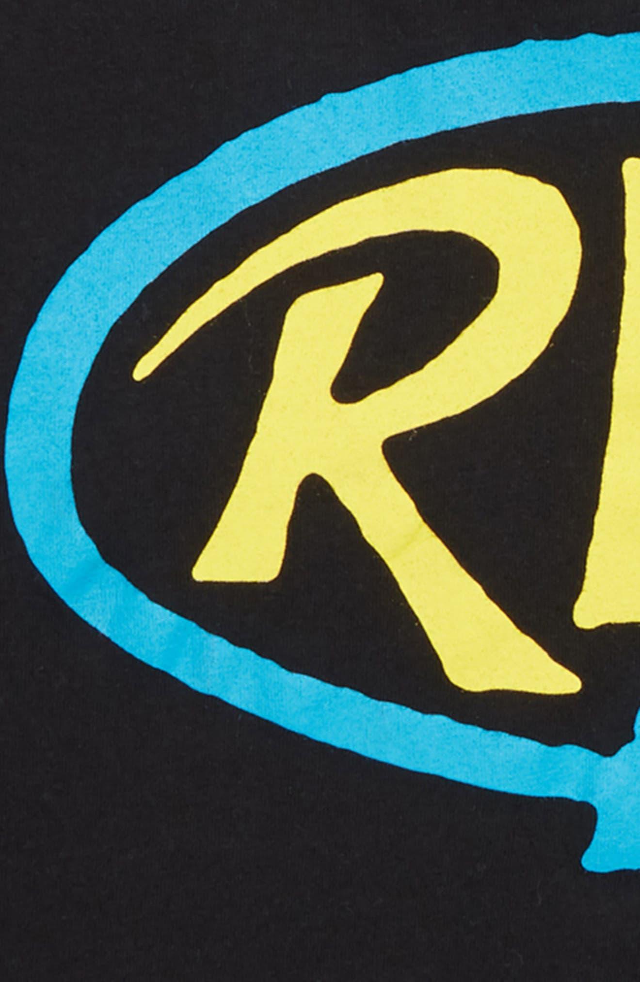 Looped T-Shirt,                             Alternate thumbnail 3, color,                             BLACK