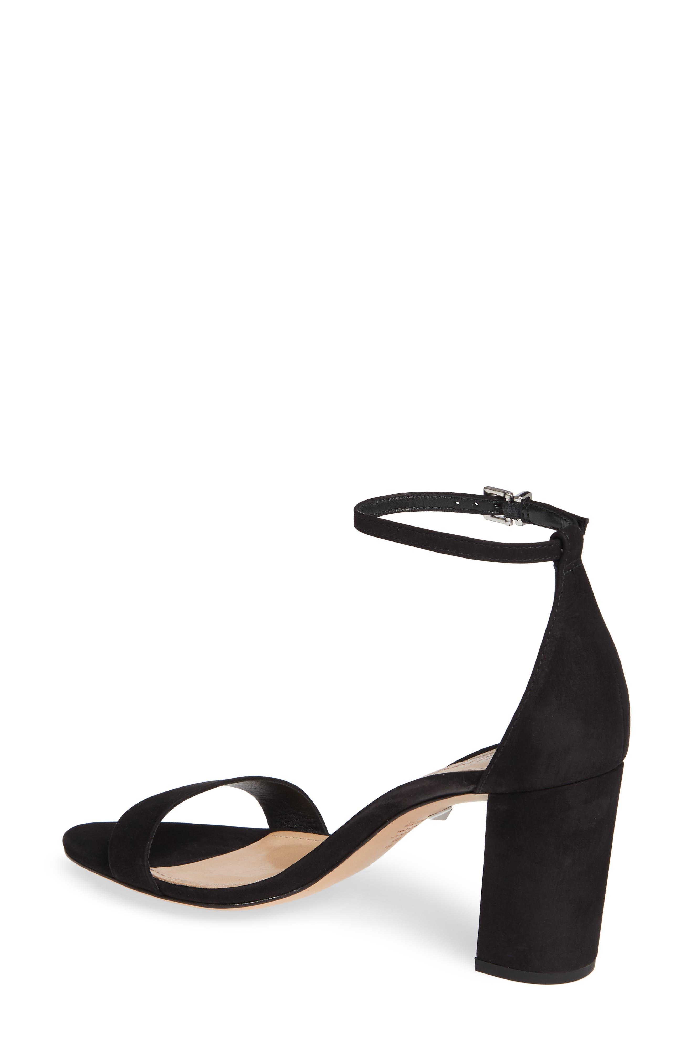 Anna Lee Ankle Strap Sandal,                             Alternate thumbnail 2, color,                             BLACK NUBUCK LEATHER