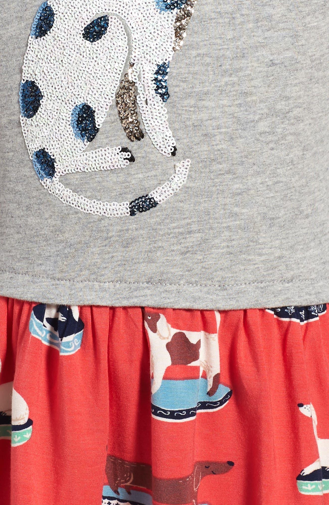 Twirly Sequin Dalmatian Dress,                             Alternate thumbnail 3, color,                             024