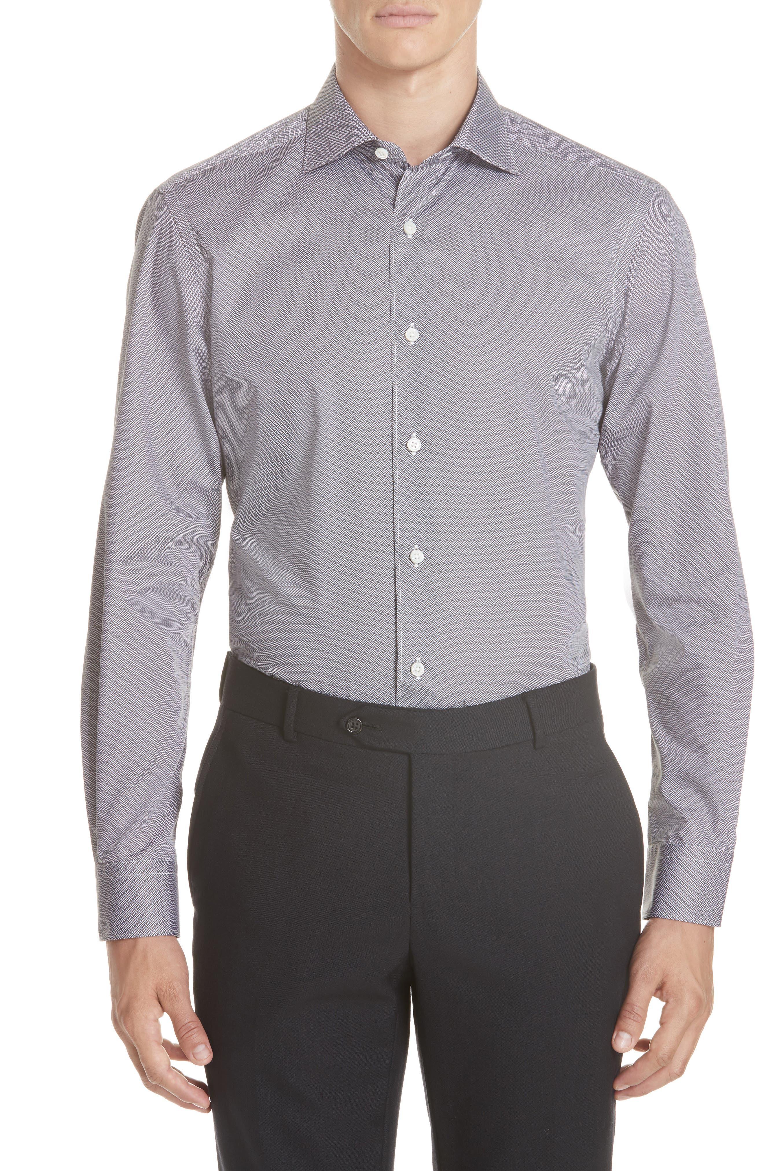 Classic Fit Geometric Sport Shirt,                             Main thumbnail 1, color,                             200